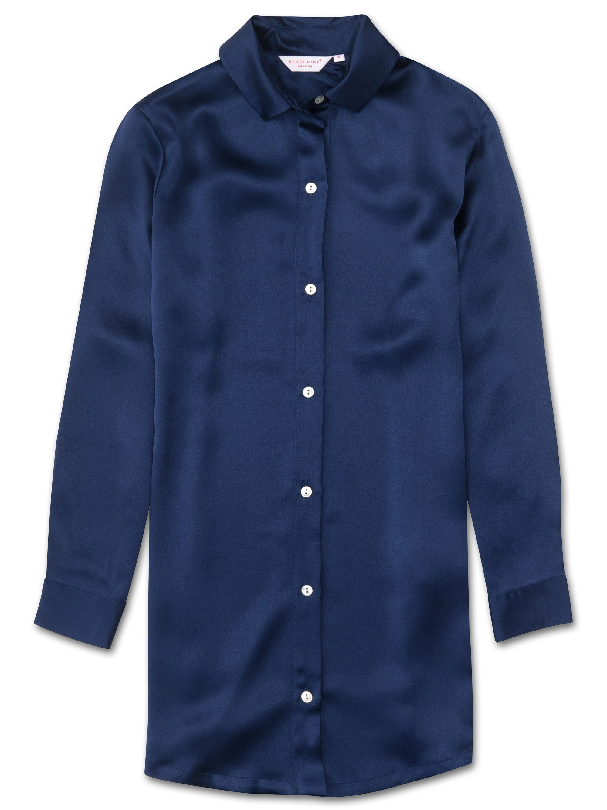 Women's Nightshirt Bailey Pure Silk Navy