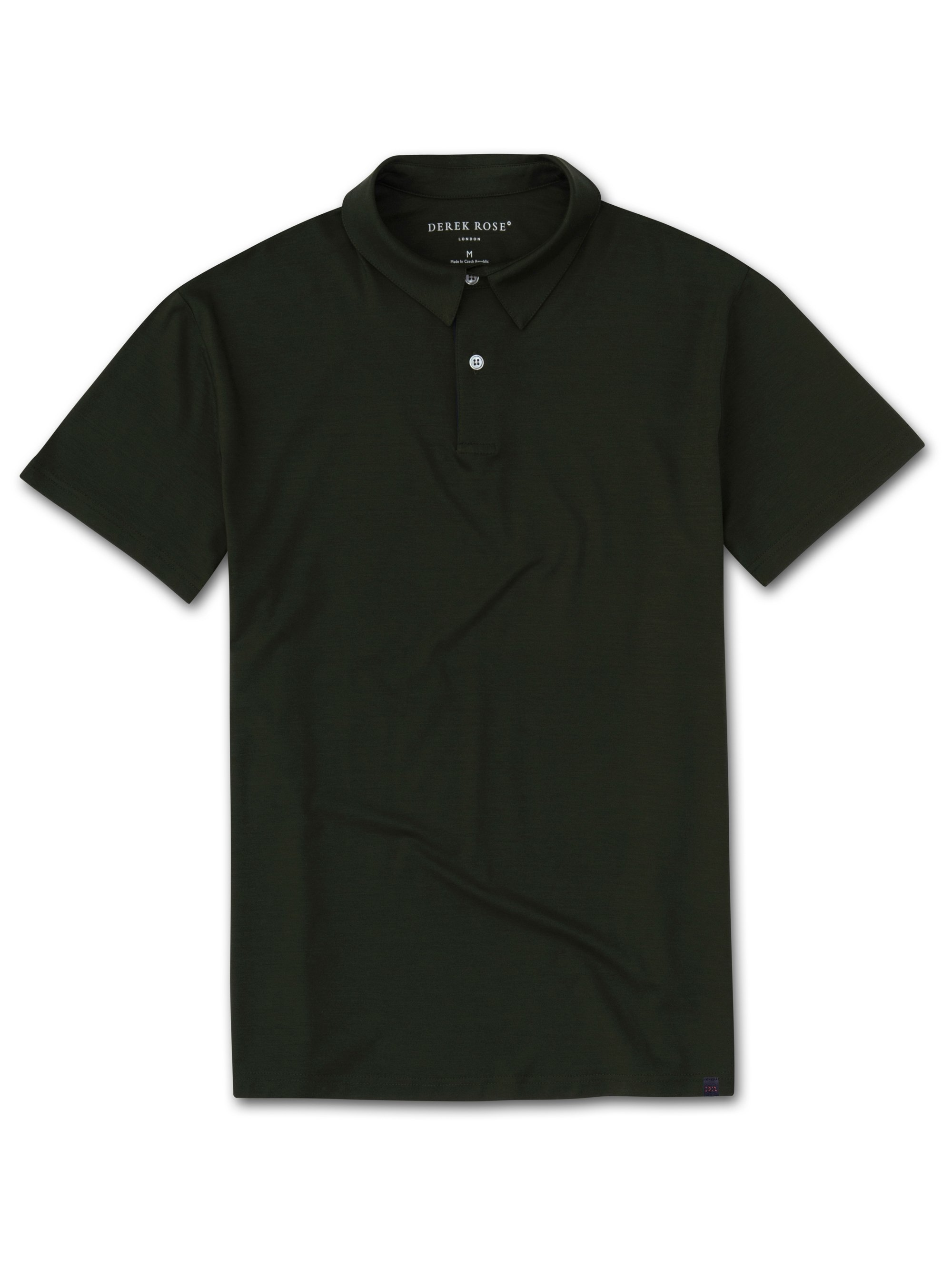 Men's Short Sleeve Polo Shirt Basel 9 Micro Modal Stretch Green