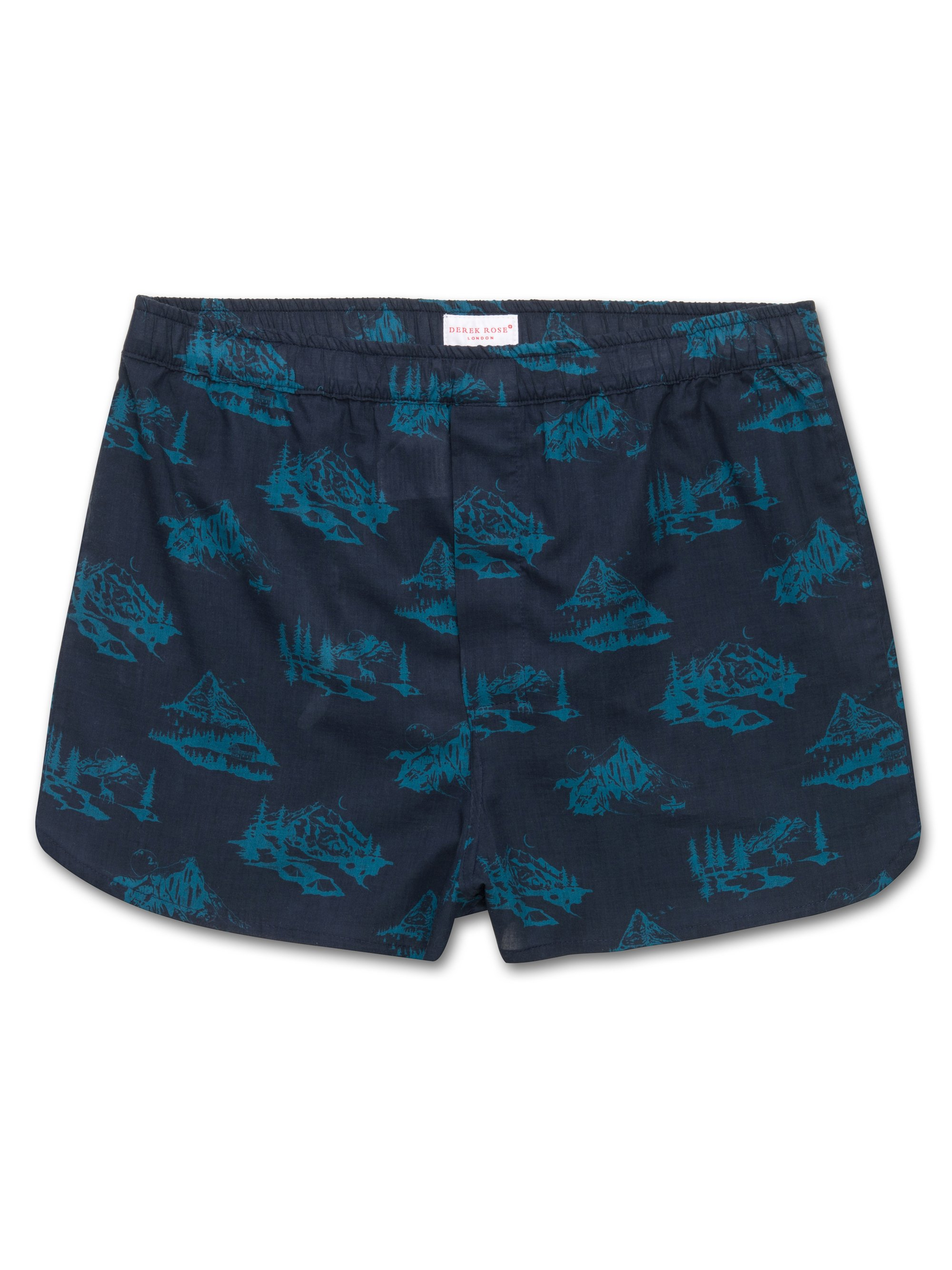 Men's Modern Fit Boxer Shorts Toile 5 Cotton Batiste Teal