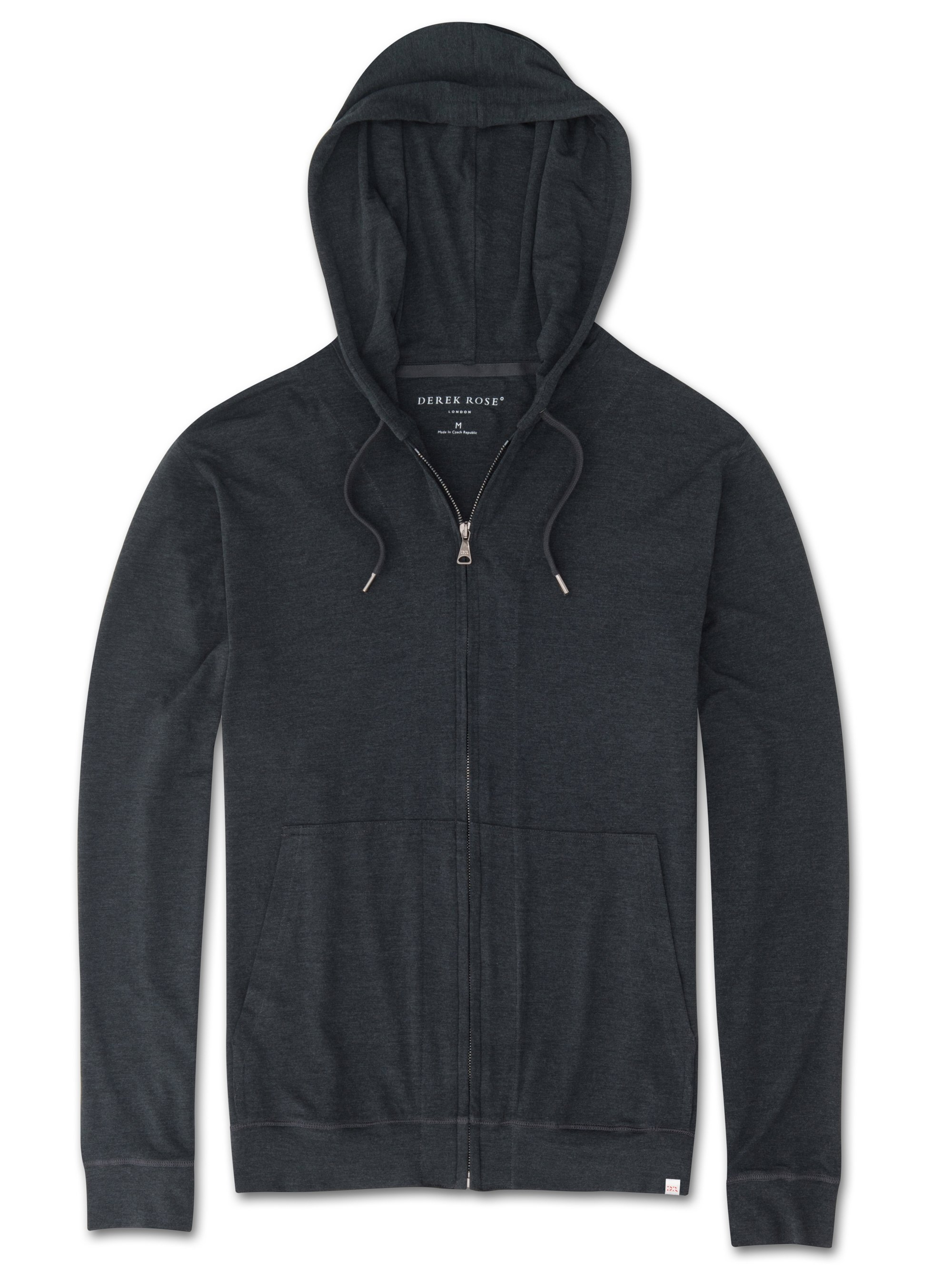 Men's Jersey Hoodie Marlowe Micro Modal Stretch Anthracite