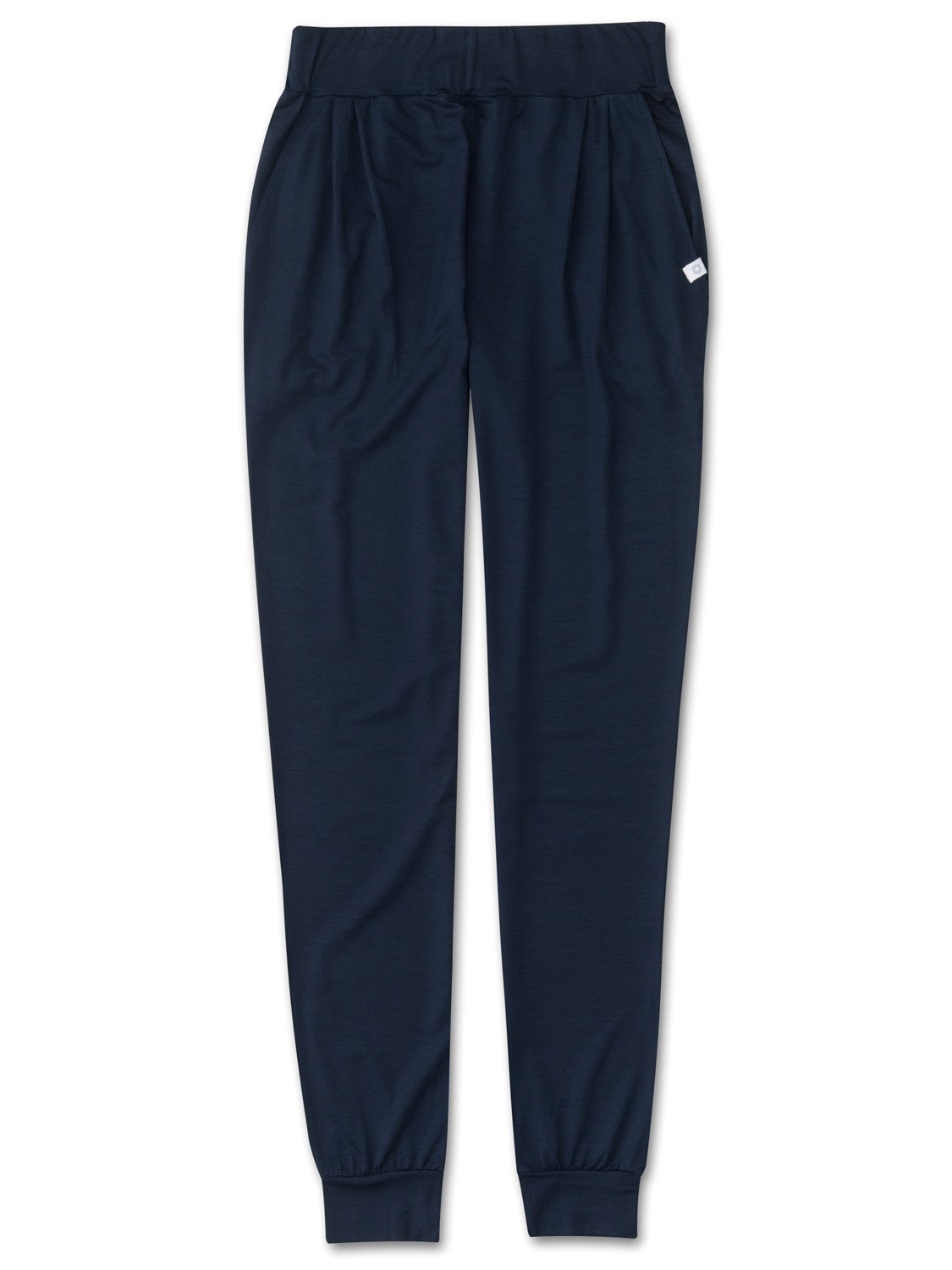 Women's Jersey Leisure Pants Basel Micro Modal Stretch Navy