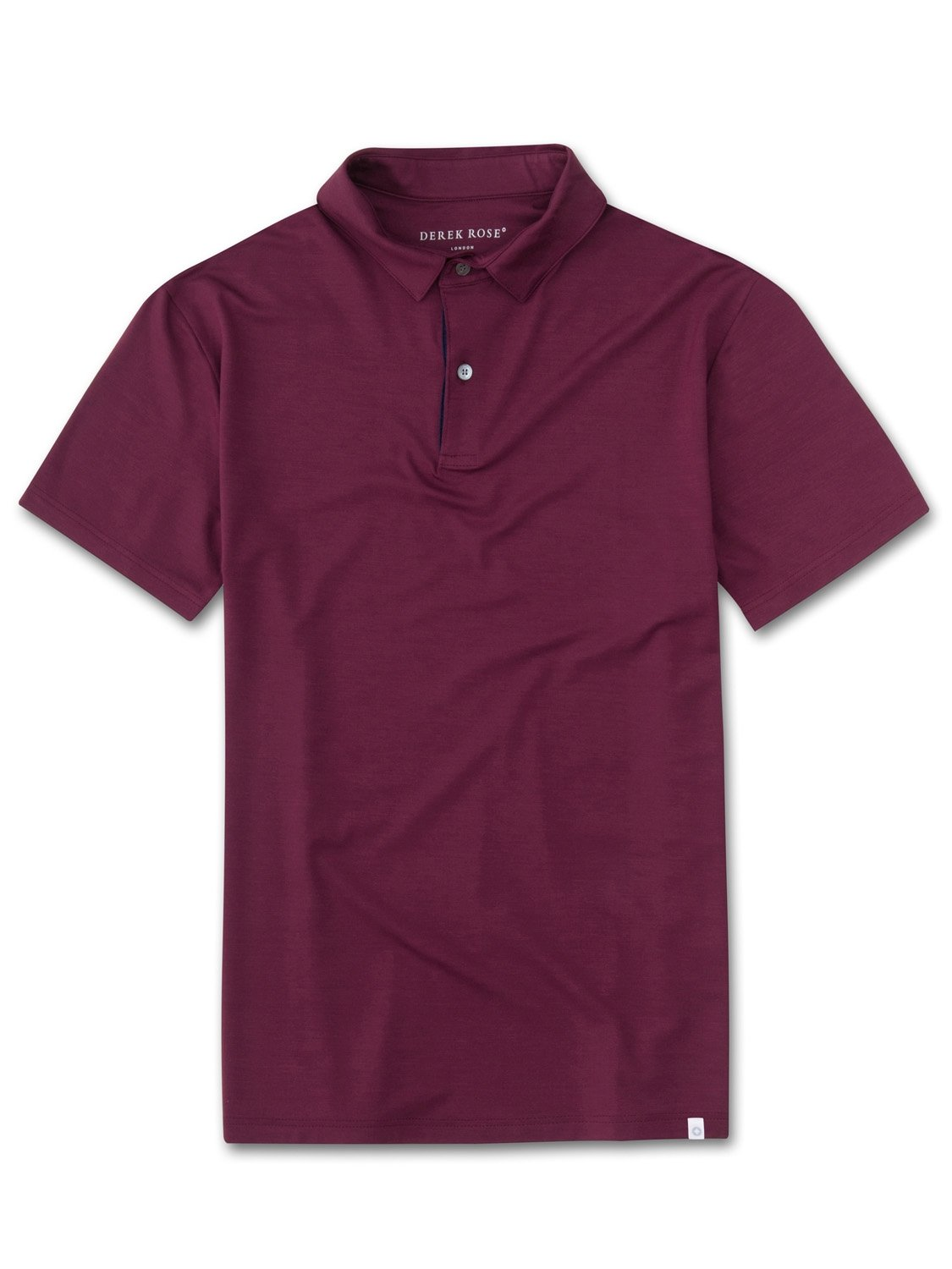 Men's Short Sleeve Polo Shirt Basel 5 Micro Modal Stretch Burgundy