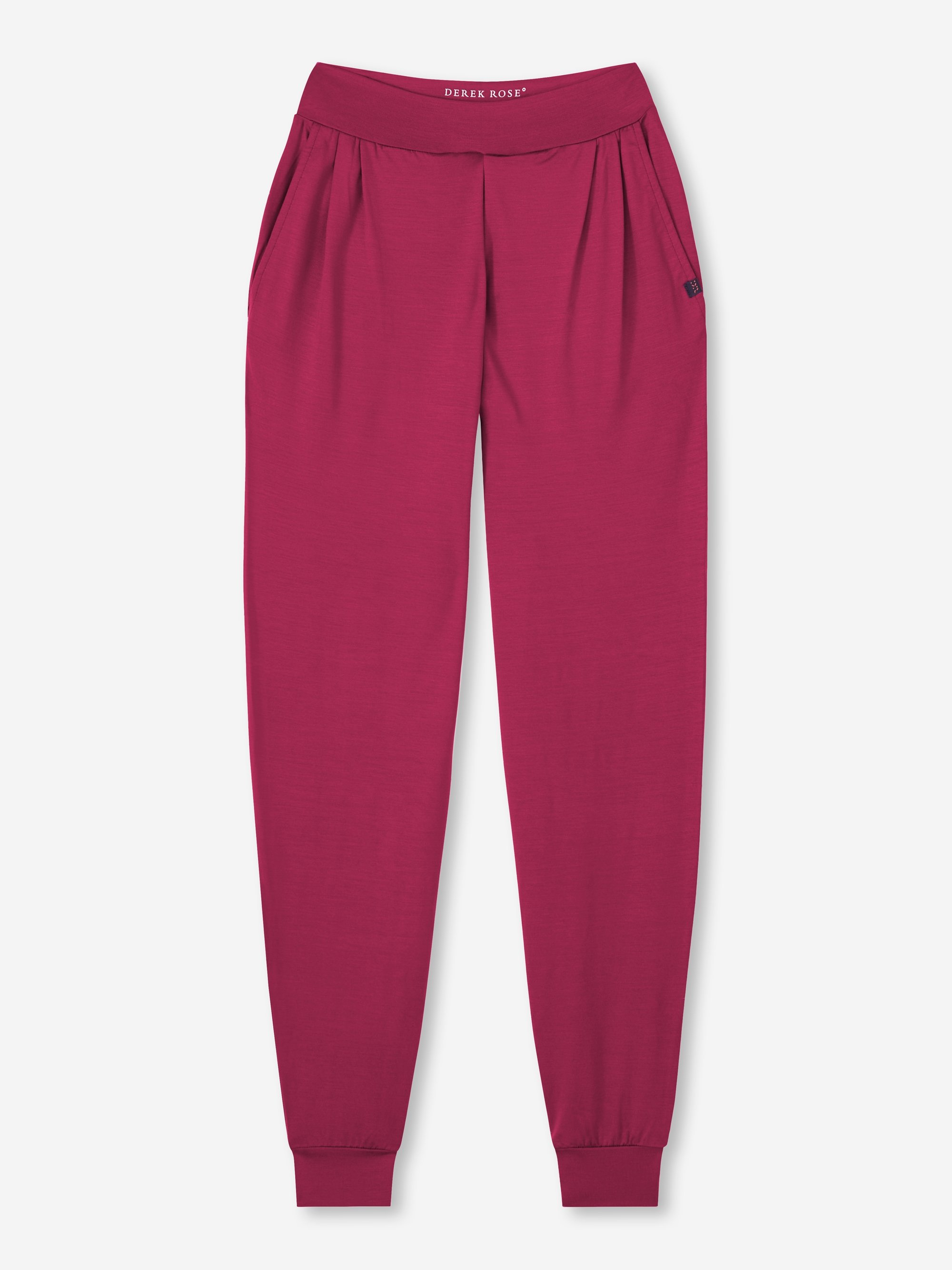 Women's Jersey Leisure Pants Basel 10 Micro Modal Stretch Berry