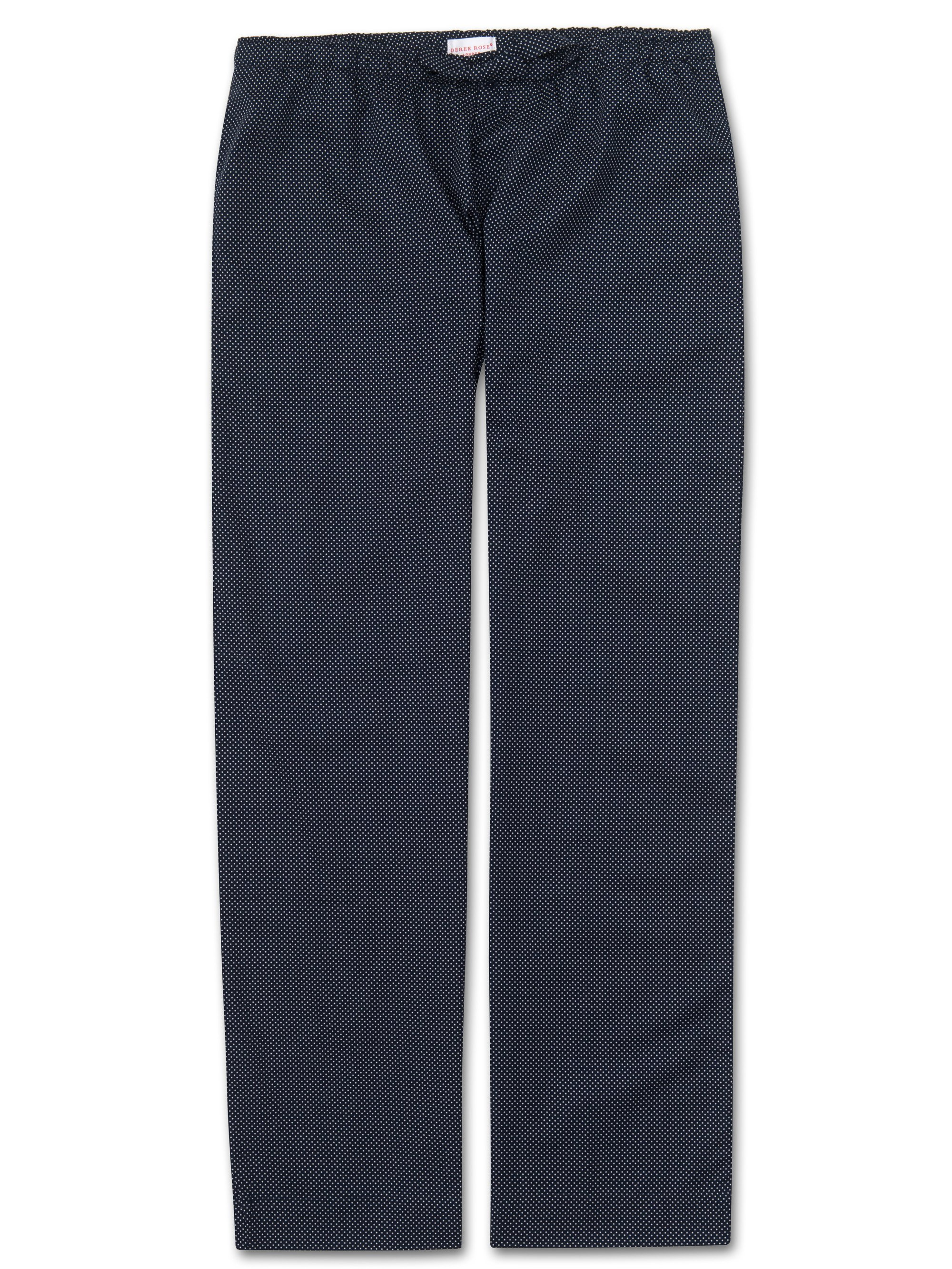 Women's Lounge Trousers Plaza 21 Pure Cotton Batiste Navy