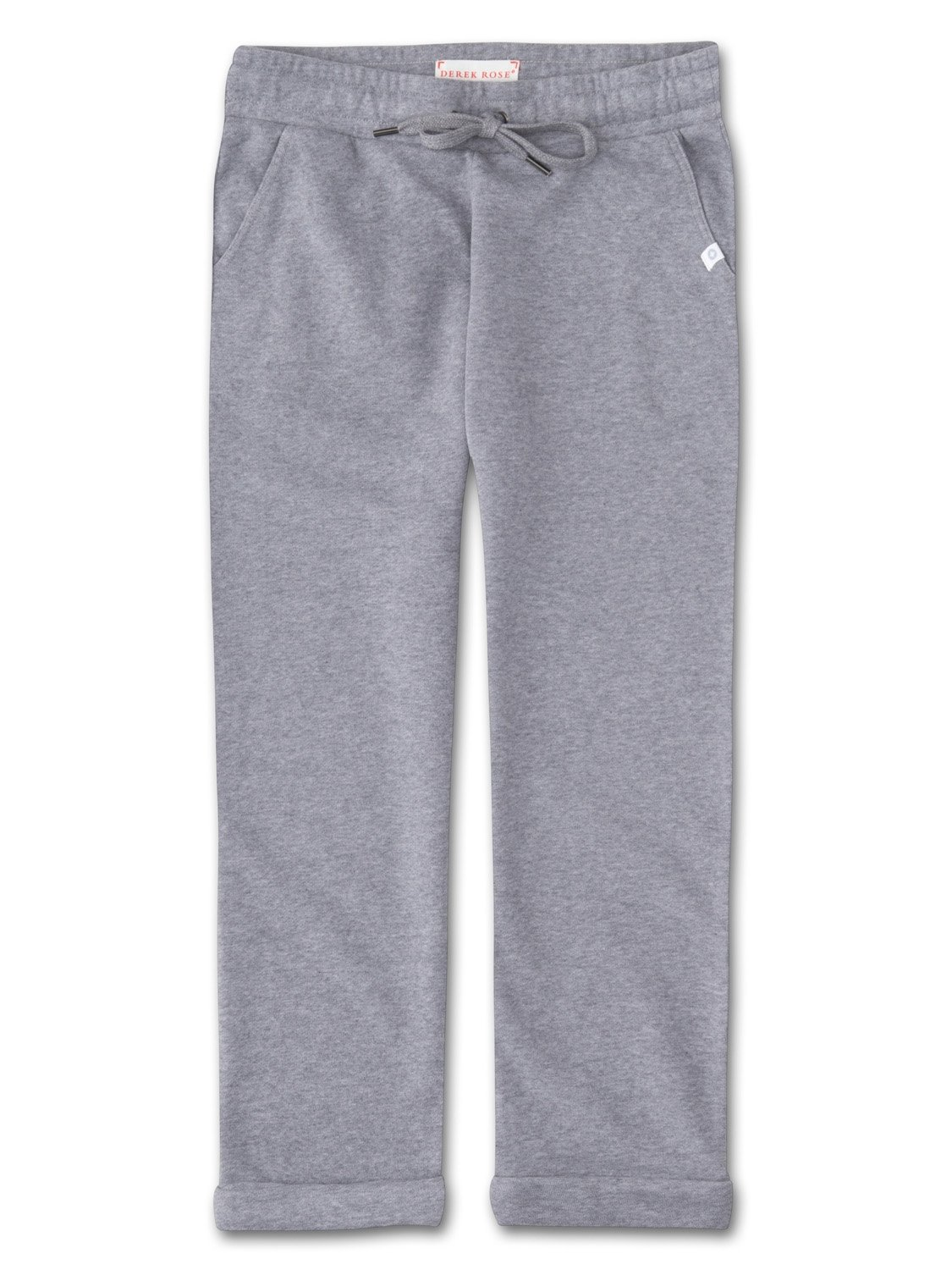 Women's Cropped Leisure Pant Devon Loopback Cotton Silver