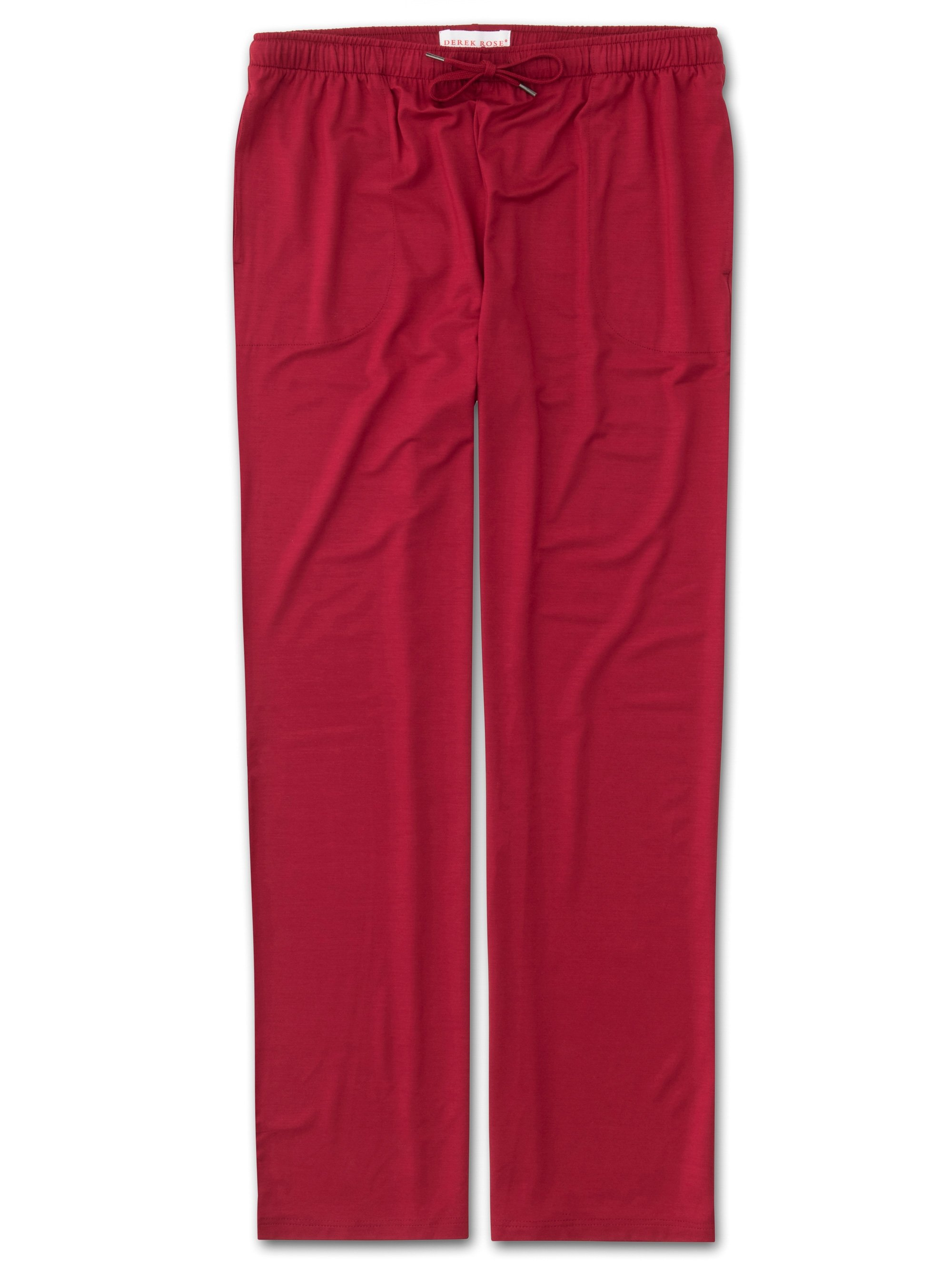 Men's Jersey Trousers Basel 8 Micro Modal Stretch Red