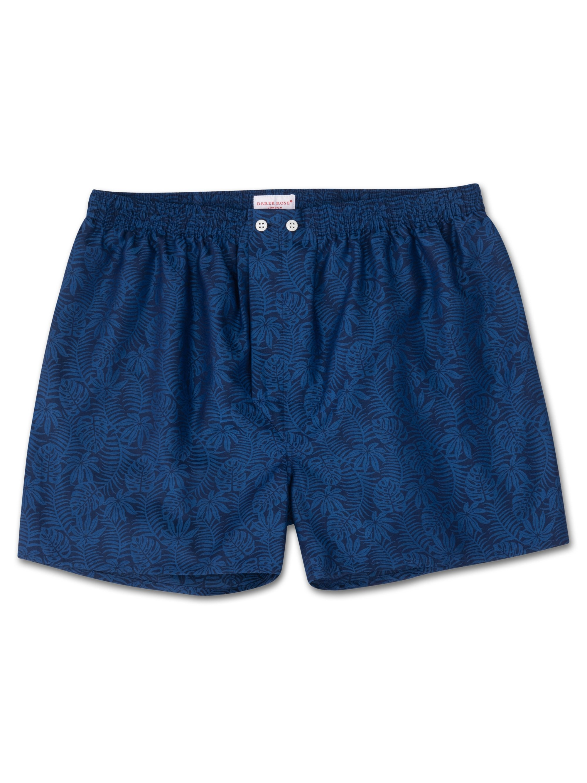 Men's Classic Fit Boxer Shorts Paris 15 Cotton Jacquard Navy
