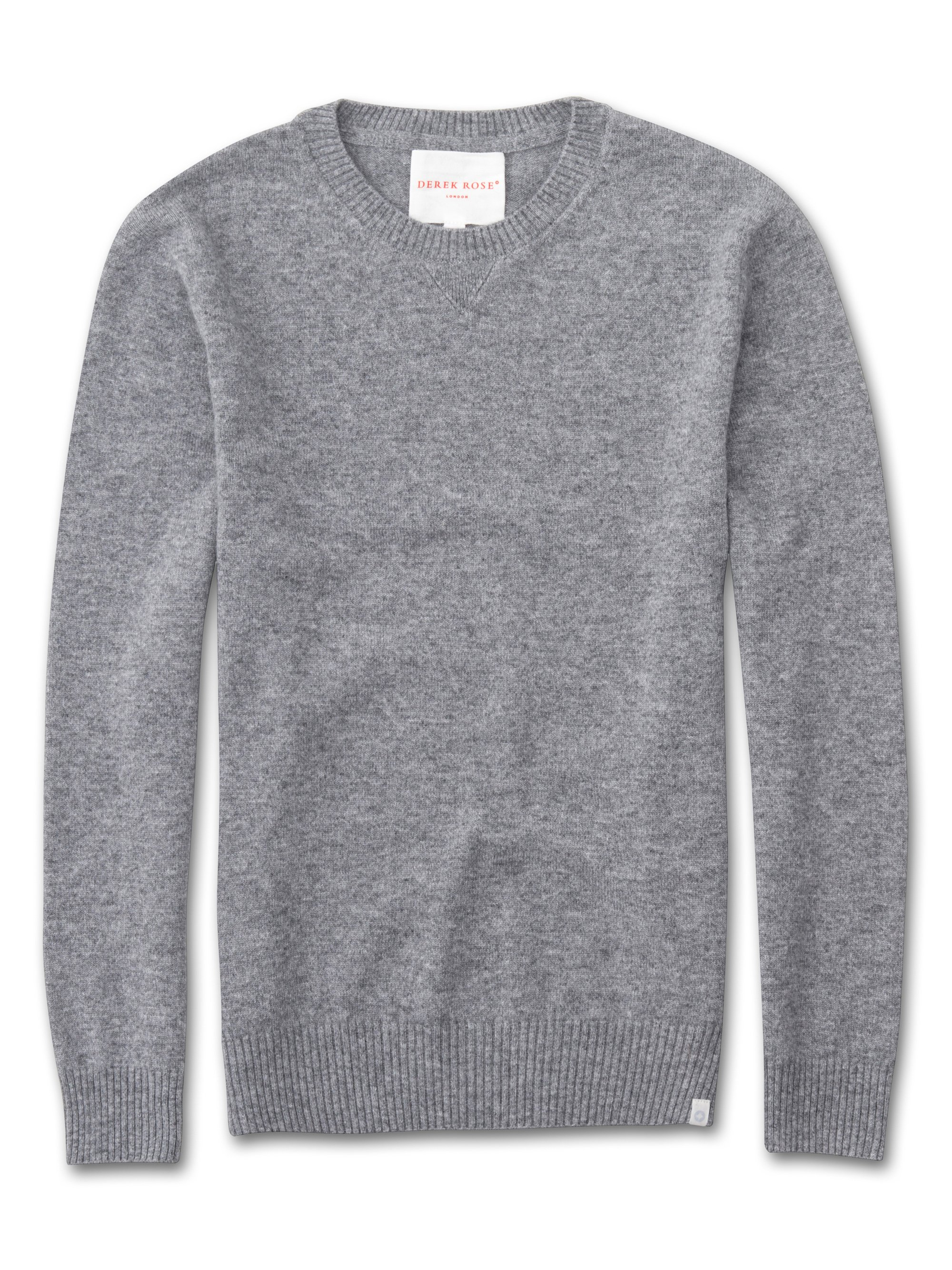 Women's Luxury Cashmere Sweater Silver Grey | Derek Rose