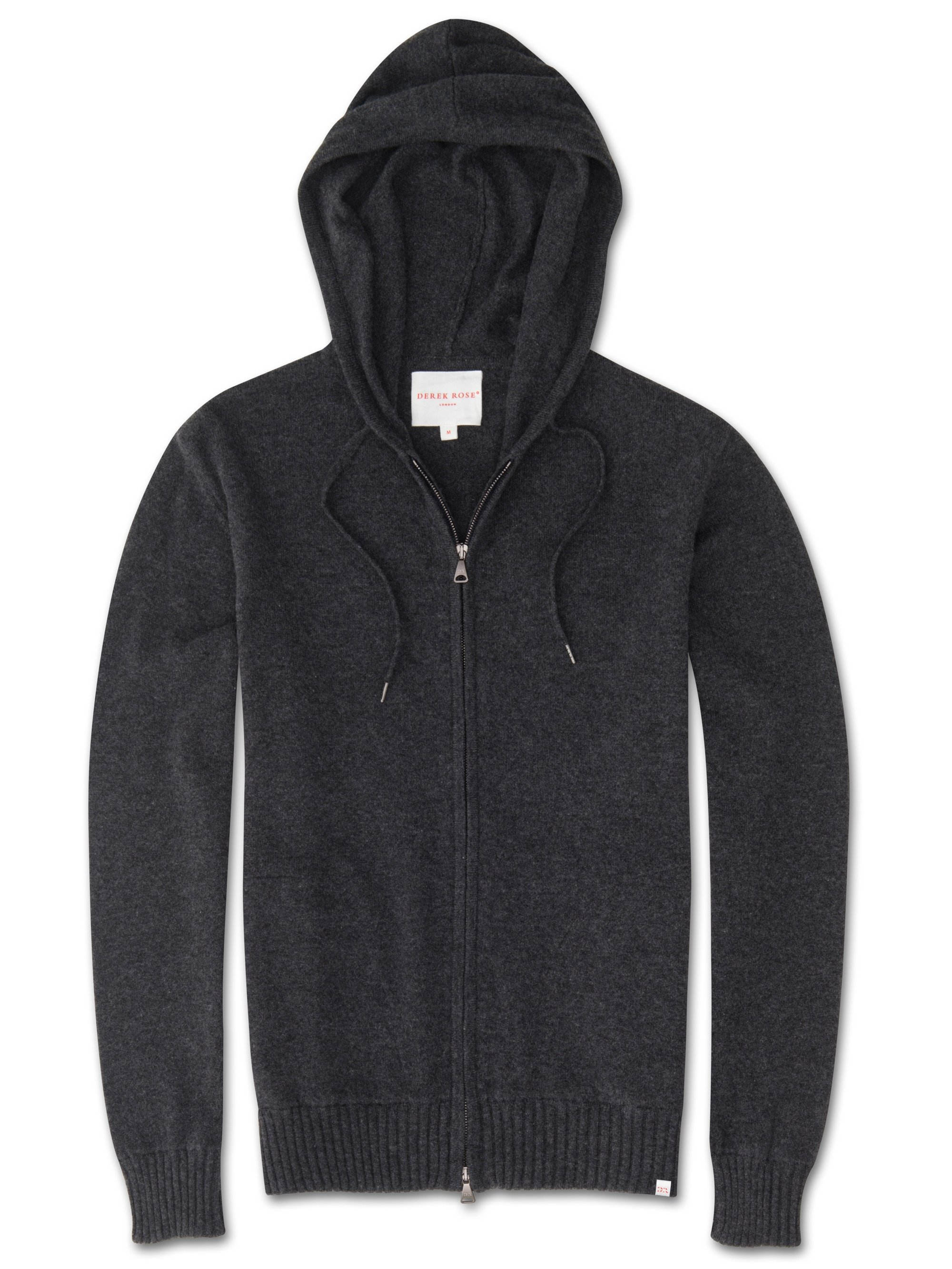Men's Cashmere Hoodie Finley Pure Cashmere Charcoal