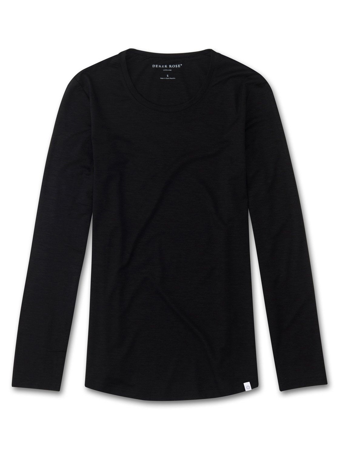Women's Long Sleeve T-Shirt Carla Micro Modal Stretch Black