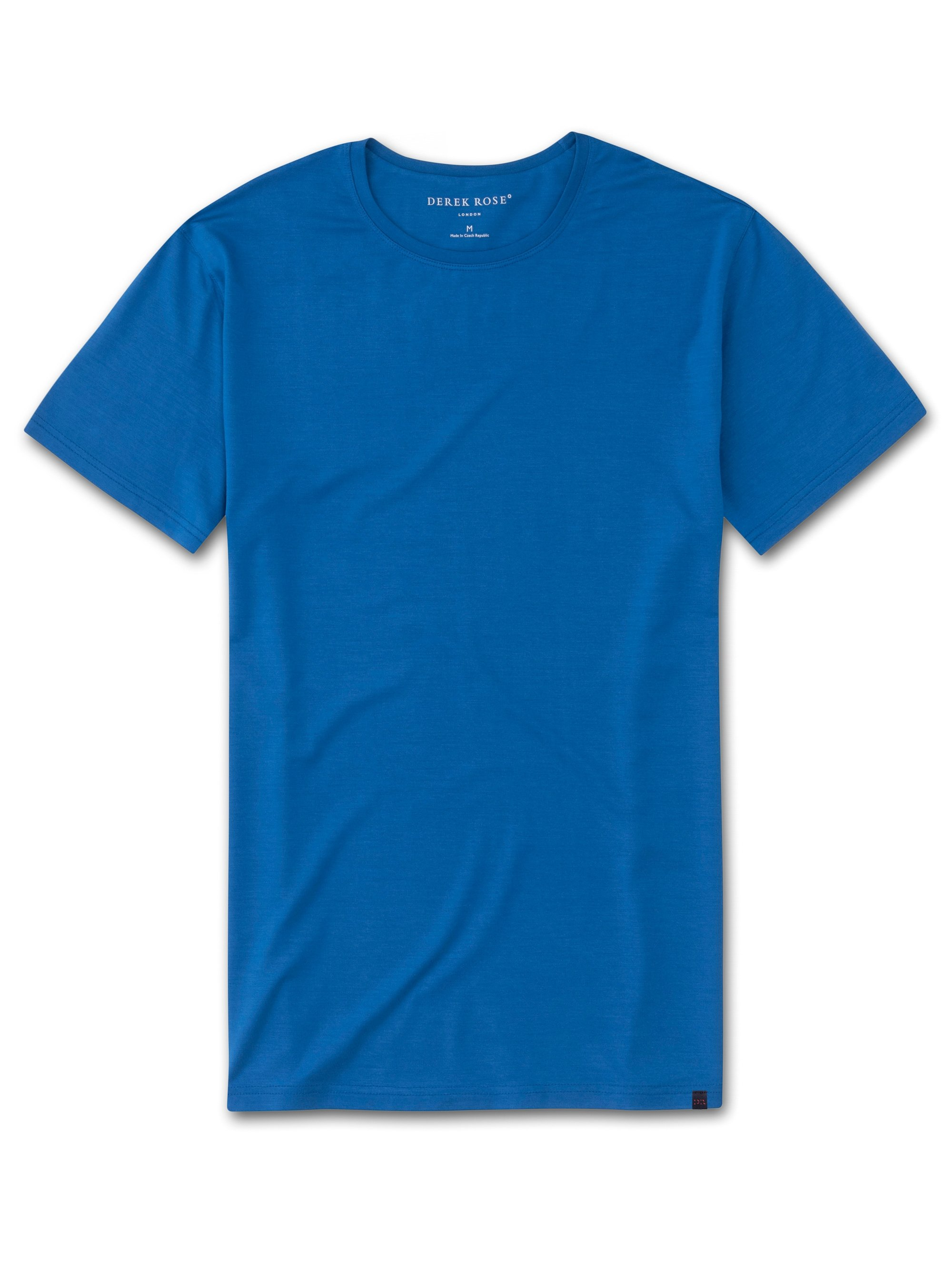 Men's Short Sleeve T-Shirt Basel 8 Micro Modal Stretch Blue