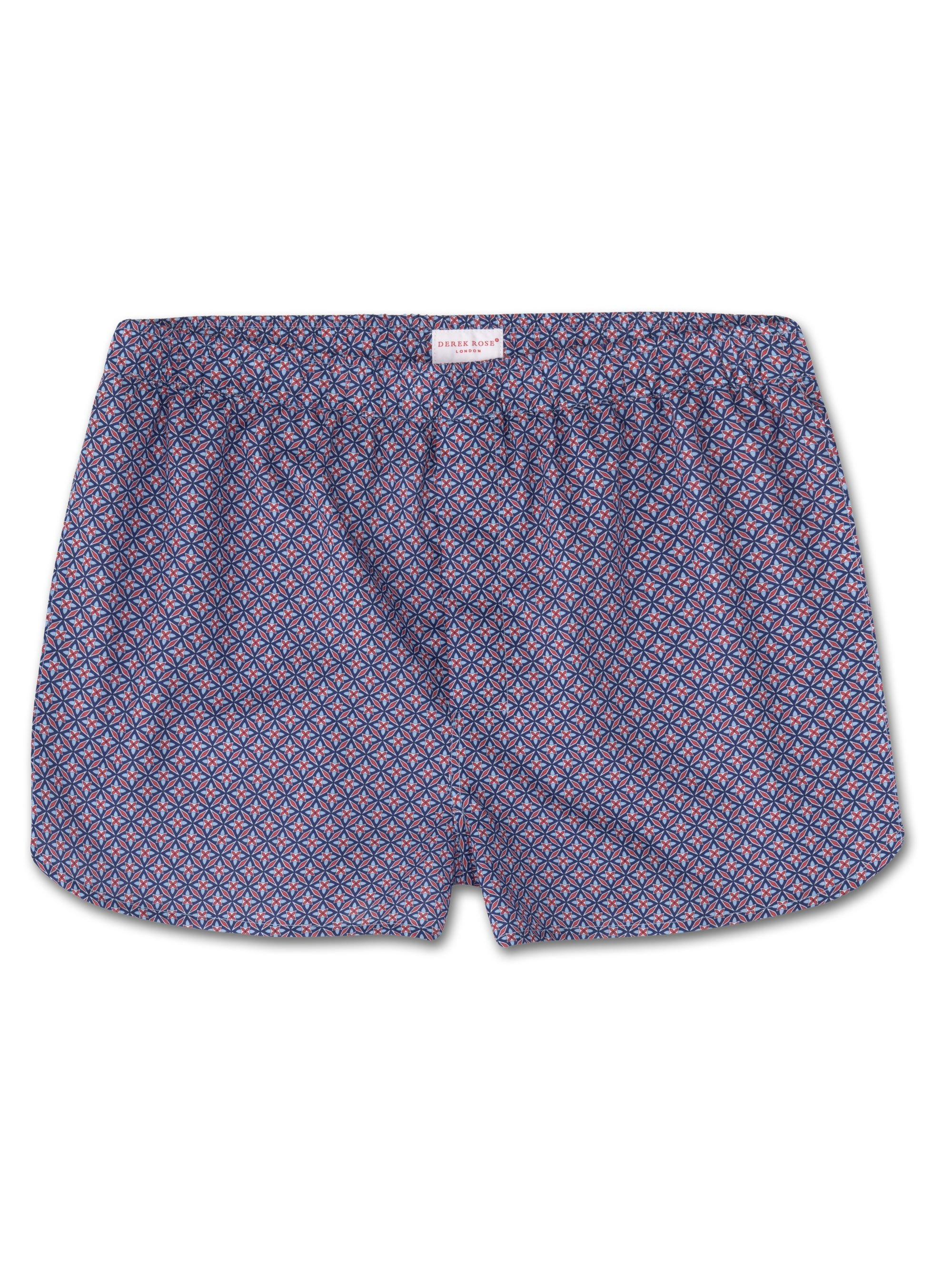 Men's Modern Fit Boxer Shorts Ledbury 21 Cotton Batiste Red