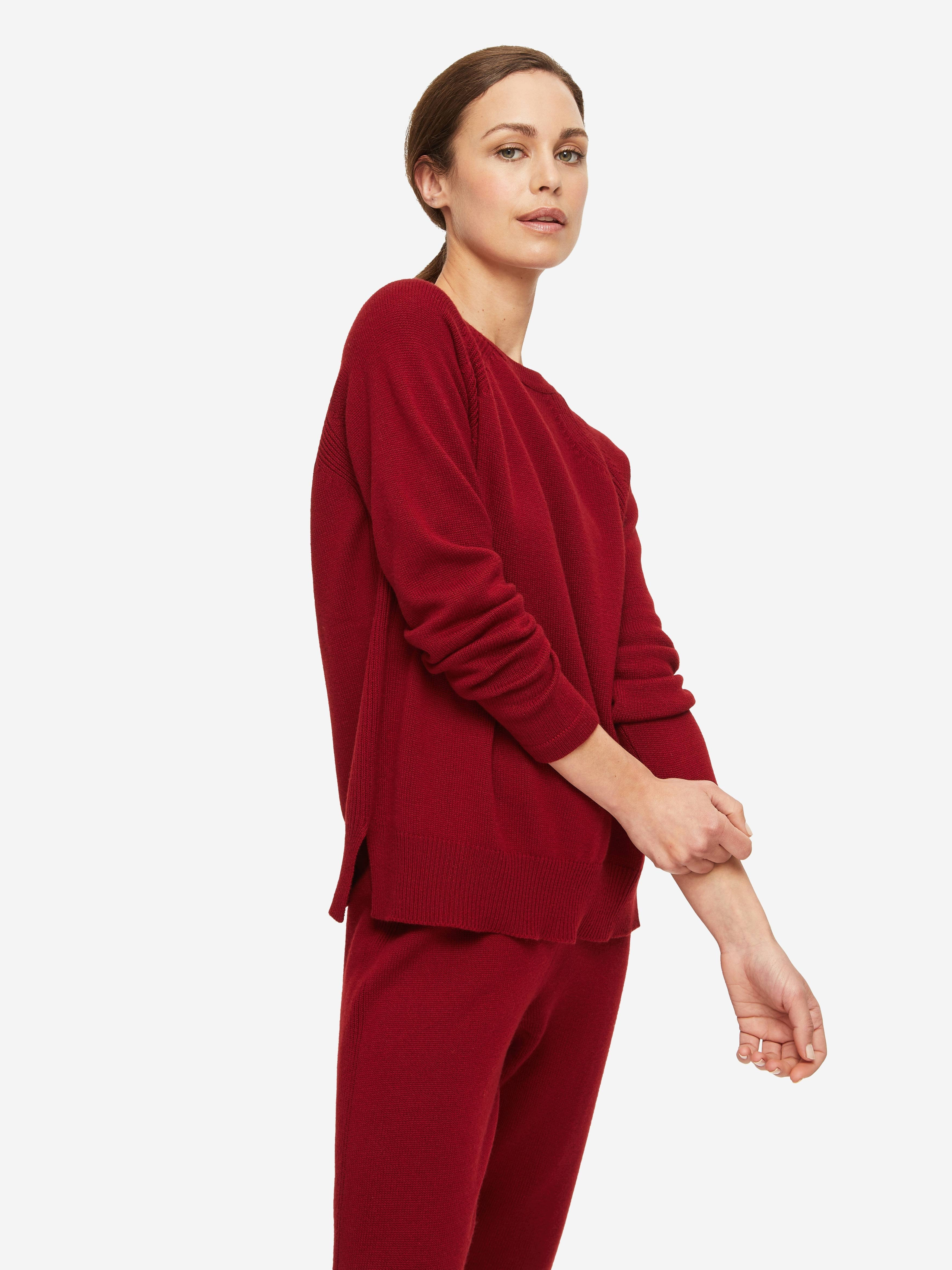 Women's Sweater Daphne Cashmere Red