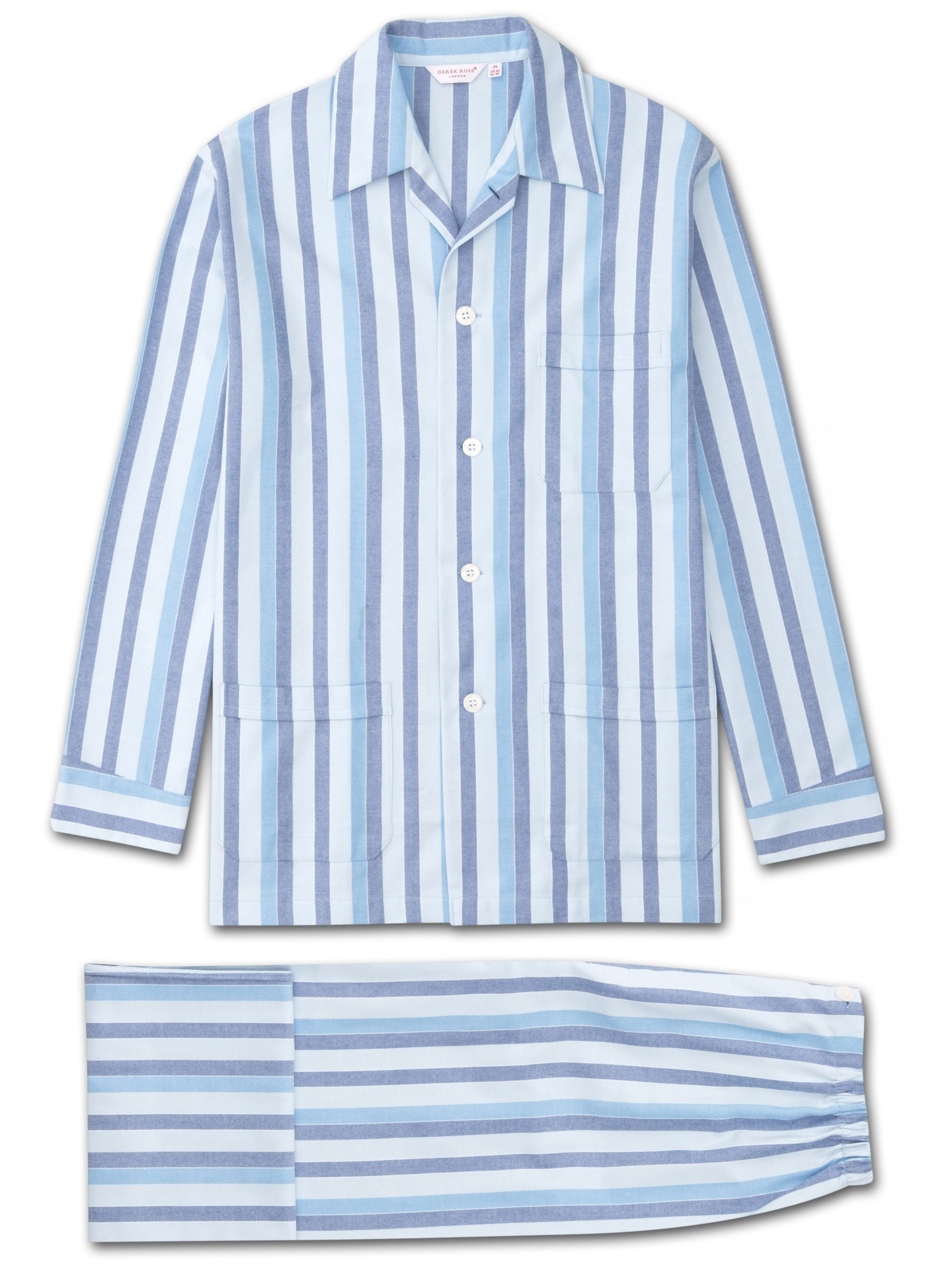 Men's Classic Fit Pyjamas Arctic 20 Brushed Cotton Blue