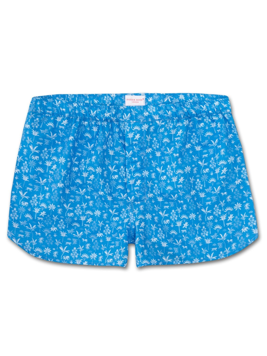 Men's Modern Fit Boxer Shorts Ledbury 8 Cotton Batiste Blue