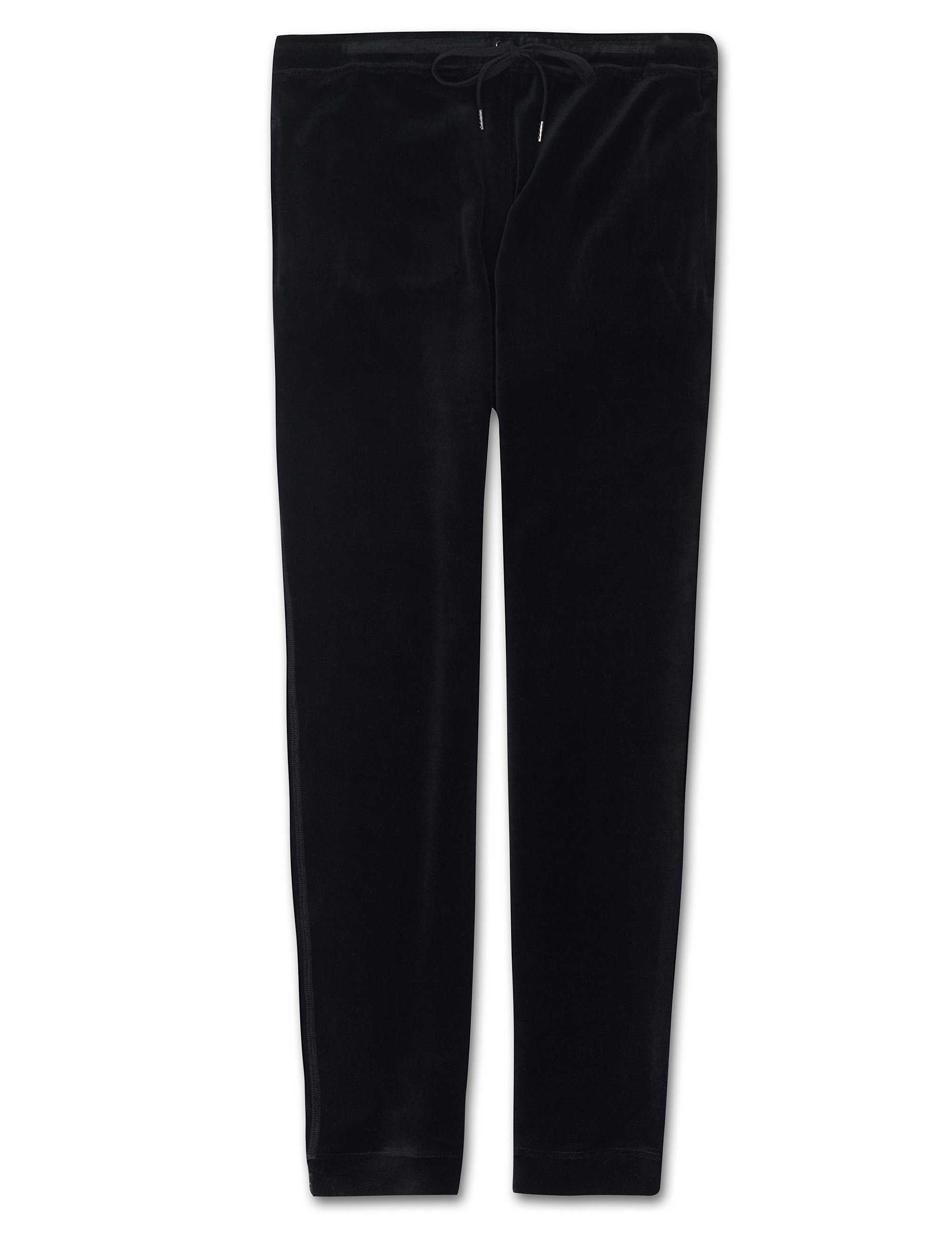 Men's Jersey Sweatpants Nico Velour Black