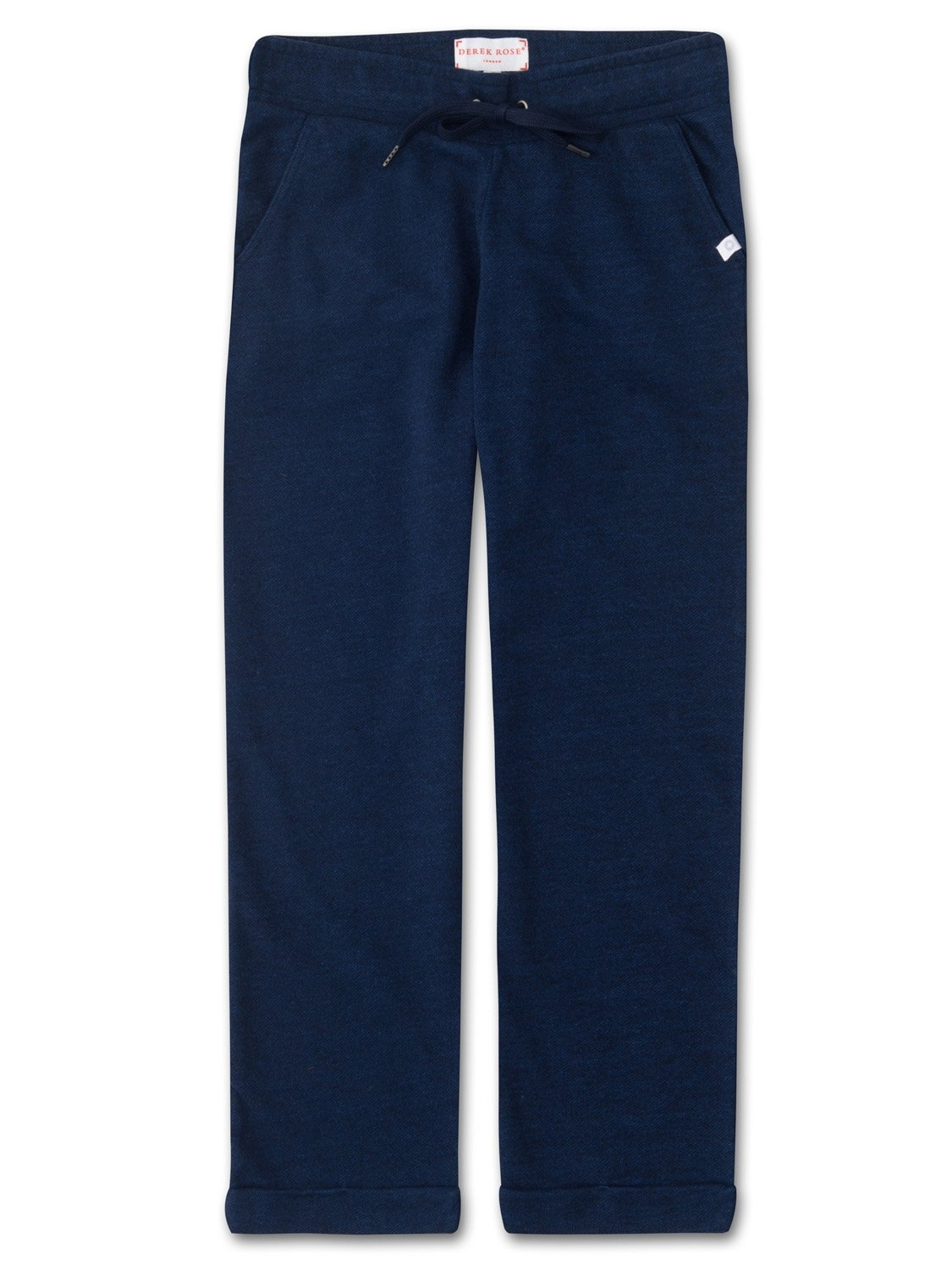 Women's Cropped Leisure Pant Devon Loopback Cotton Navy