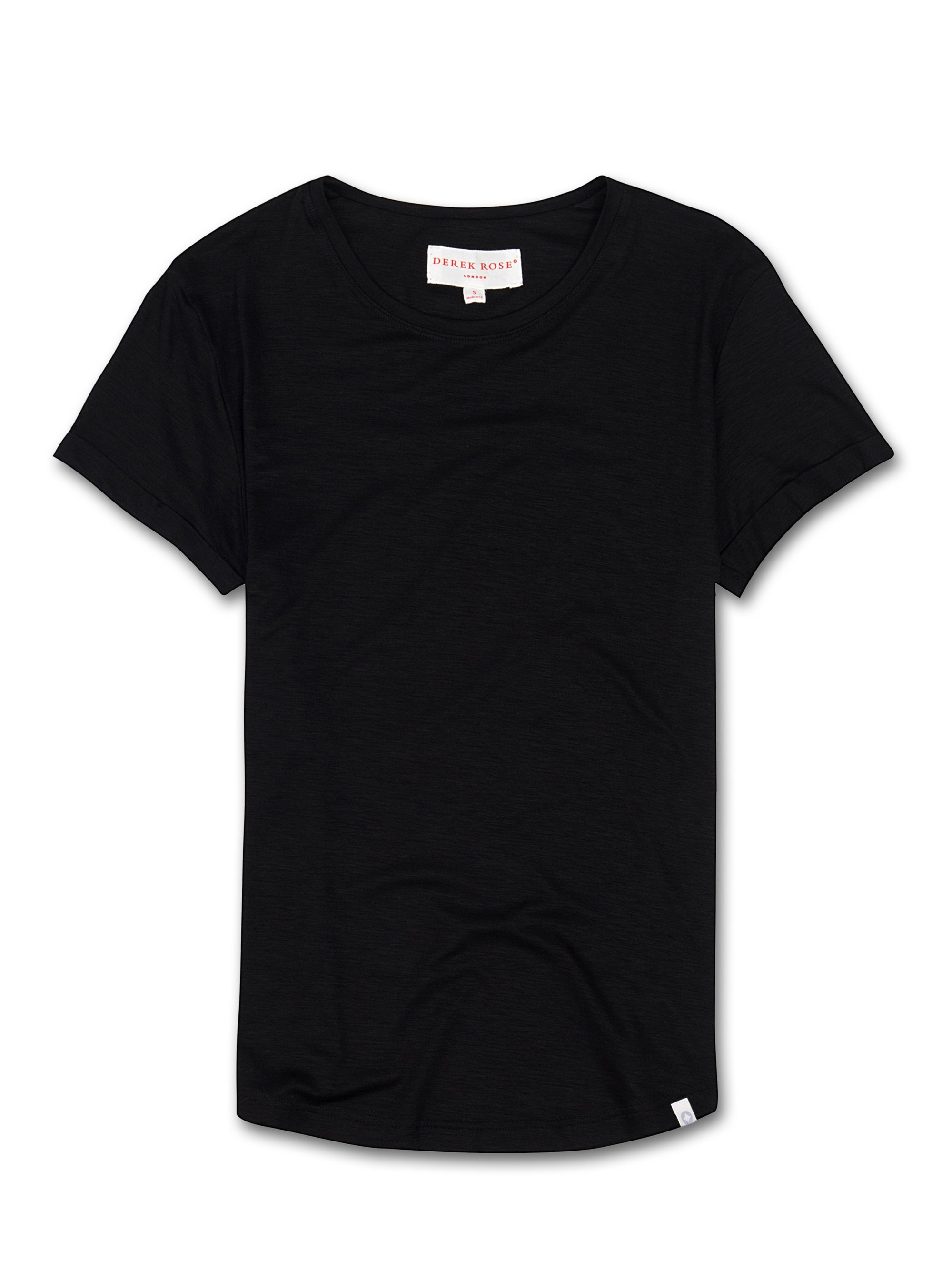 Women's Leisure T-Shirt Carla Micro Modal Stretch Black