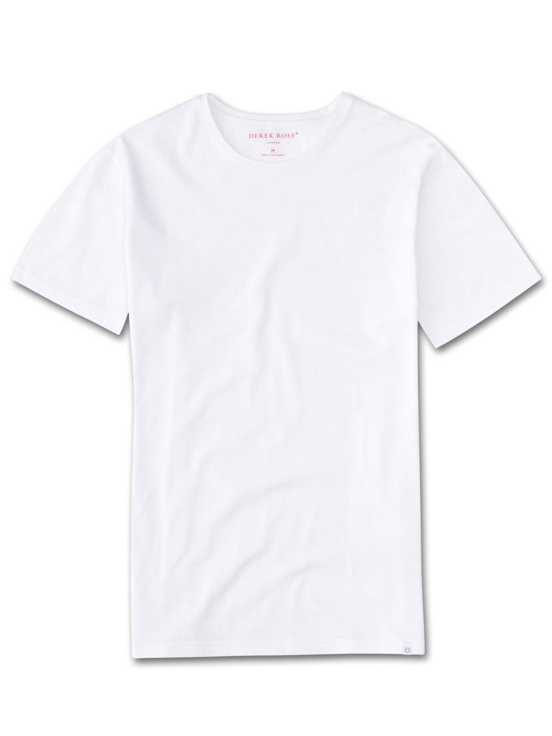 Men's Short Sleeve T-Shirt Turner Carbon-Brushed Cotton White