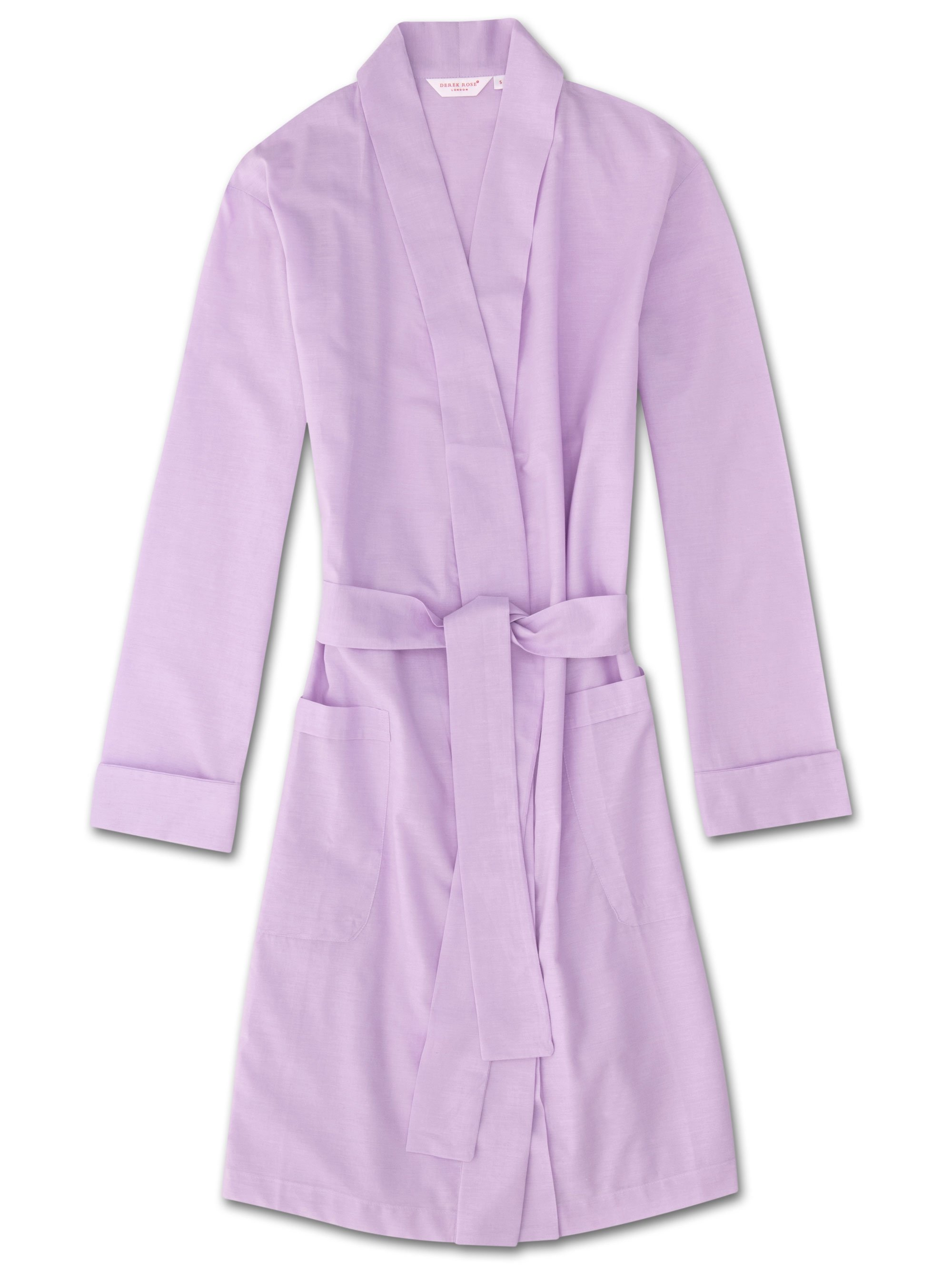 Women's Dressing Gown Amalfi Cotton Batiste Lilac