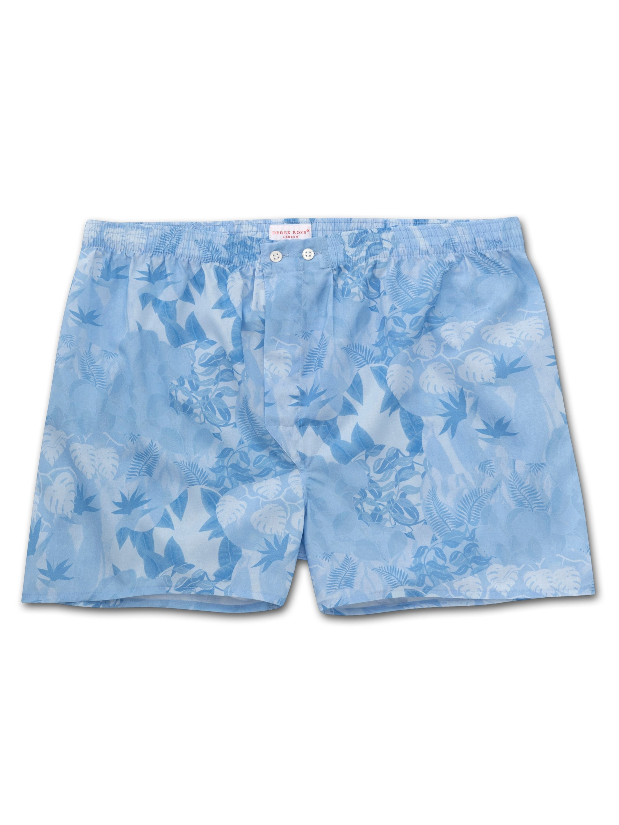 Men's Classic Fit Boxer Shorts Ledbury 35 Cotton Batiste Blue