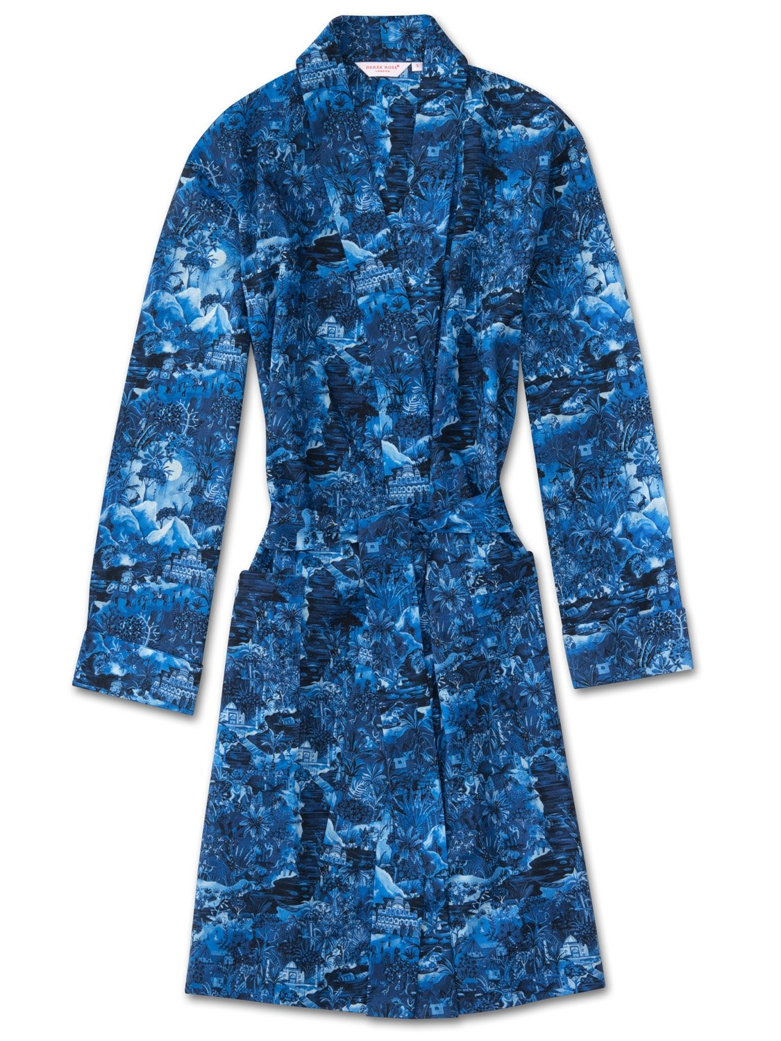 Women's Dressing Gown Ledbury 10 Cotton Batiste Blue