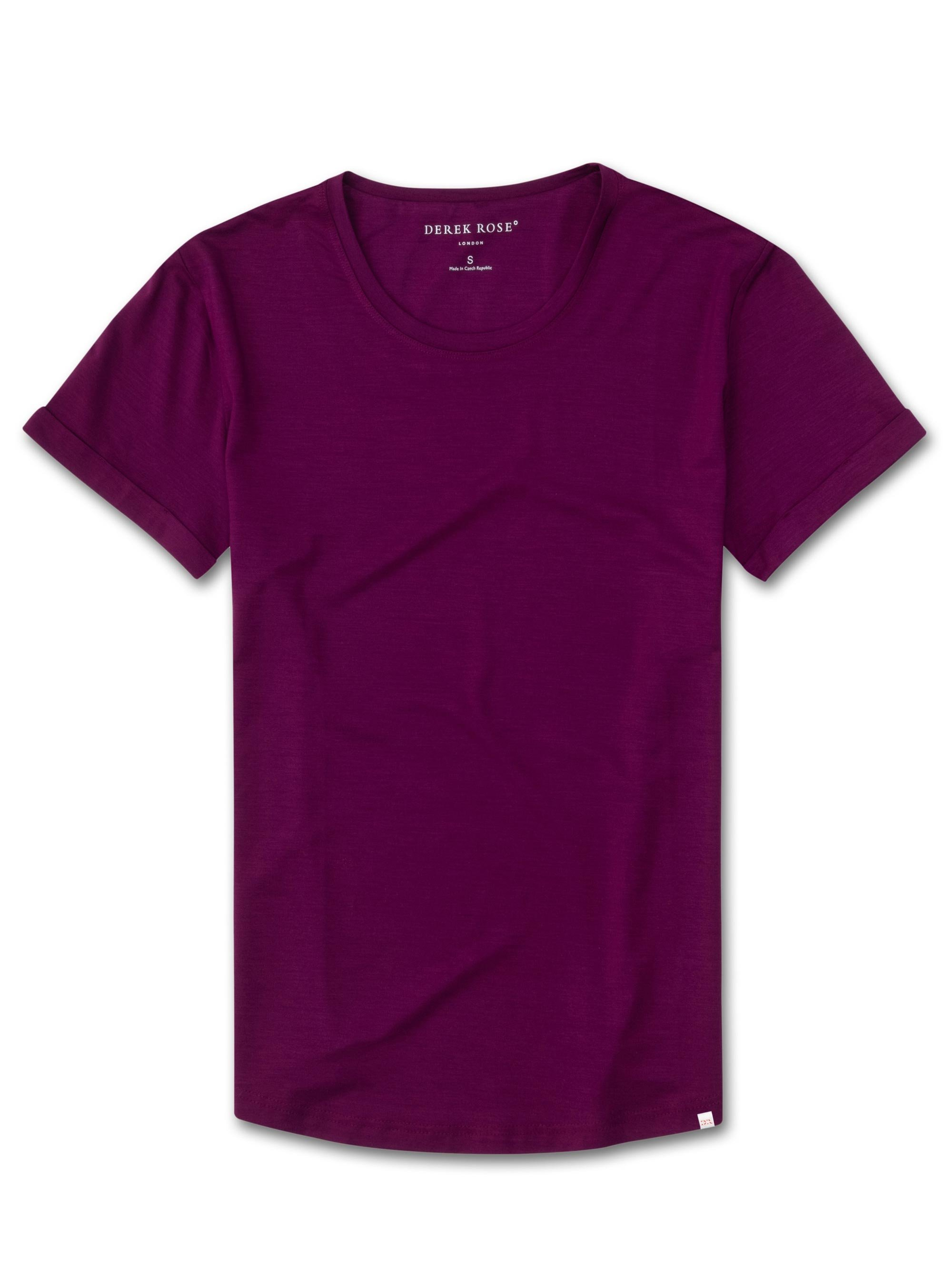 Women's Leisure T-Shirt Lara Micro Modal Stretch Berry