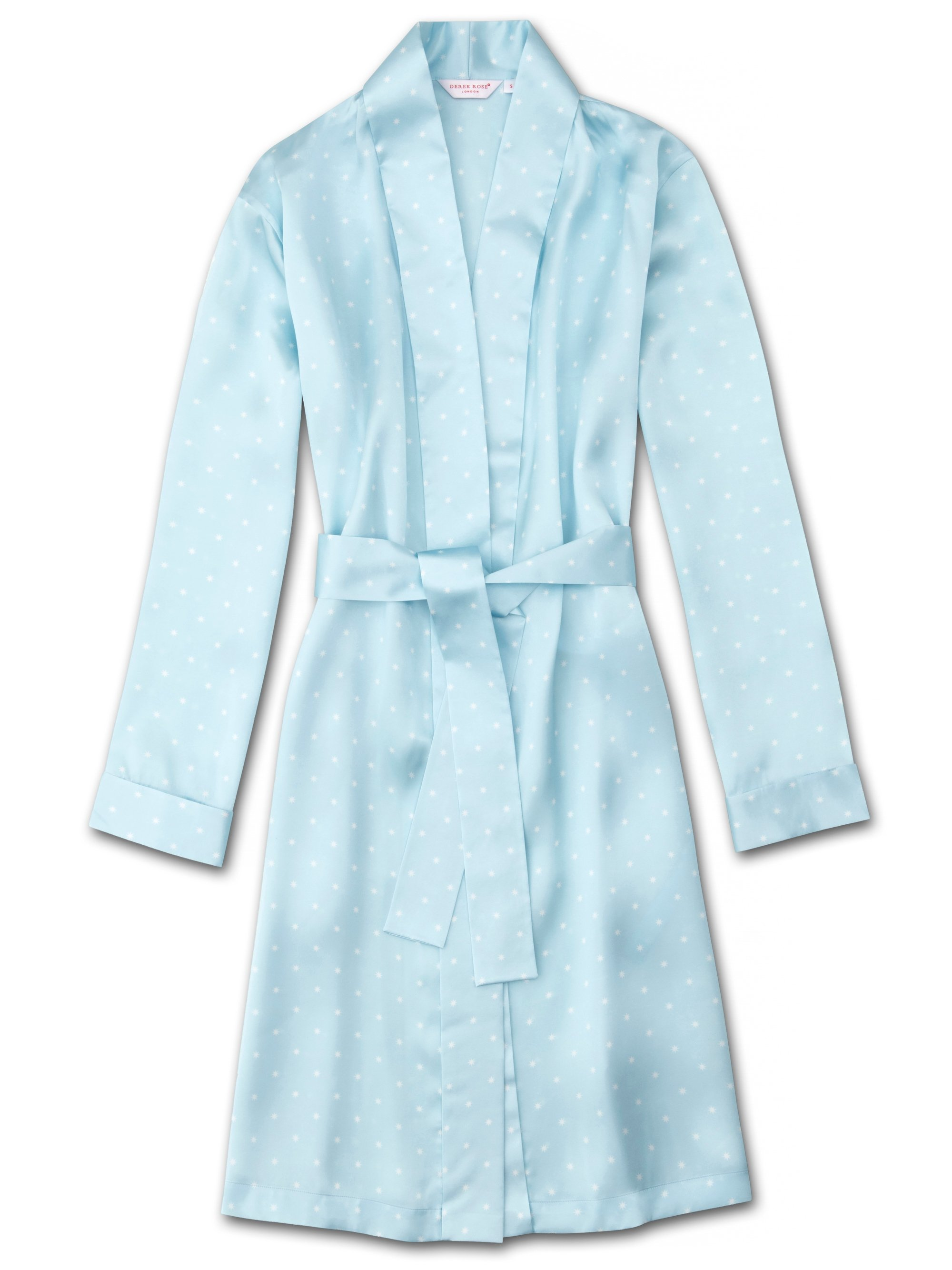 Women's Dressing Gown Brindisi 54 Pure Silk Satin Blue