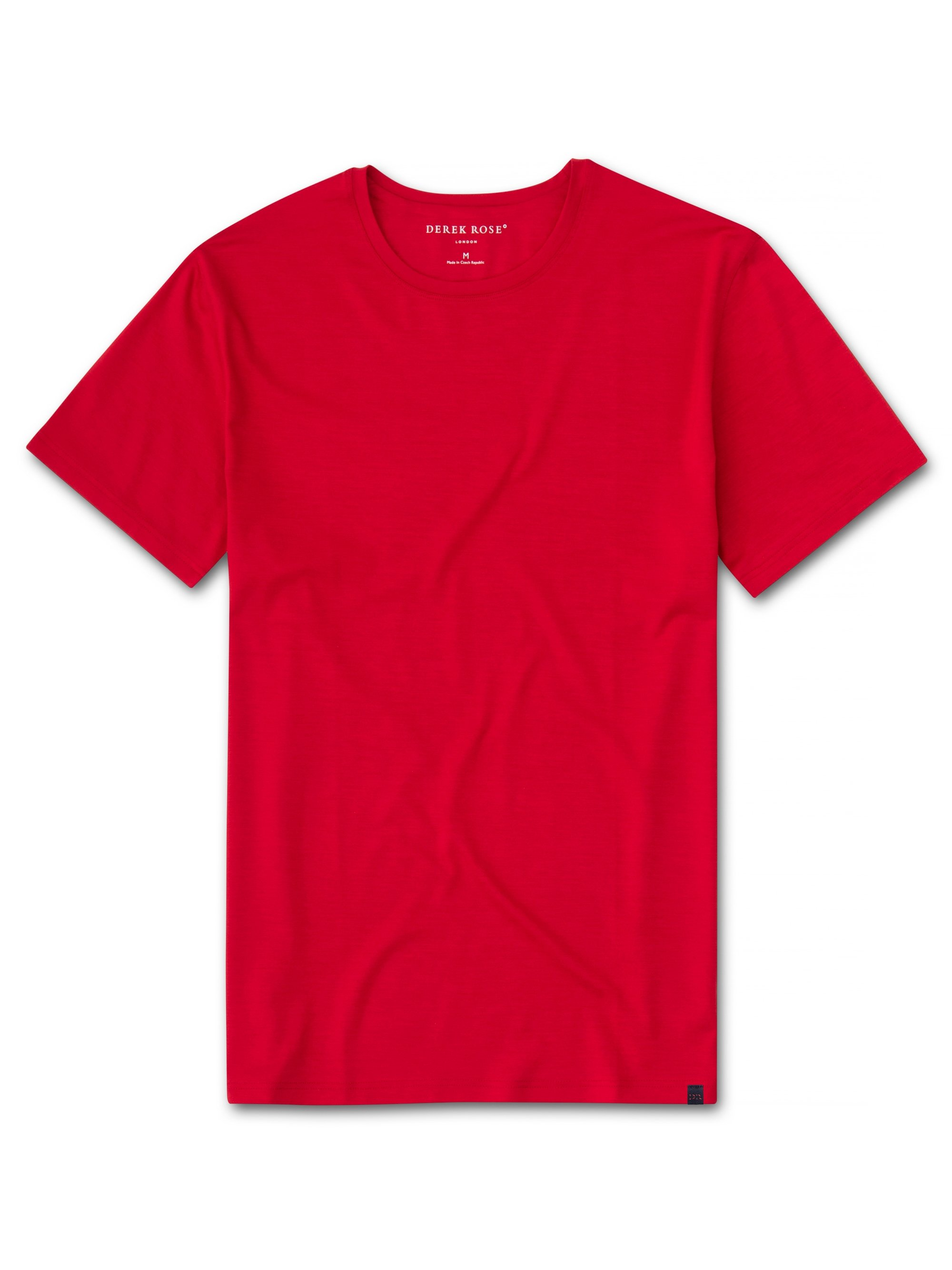 Men's Short Sleeve T-Shirt Basel 9 Micro Modal Stretch Red
