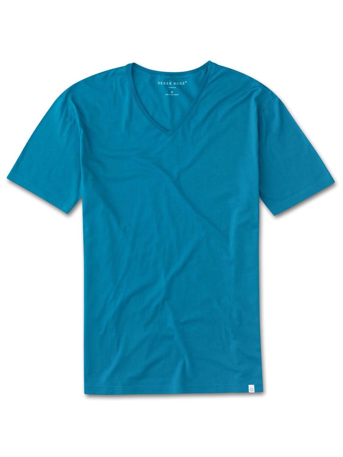 Men's Short Sleeve V-Neck T-Shirt Riley 2 Pima Cotton Teal