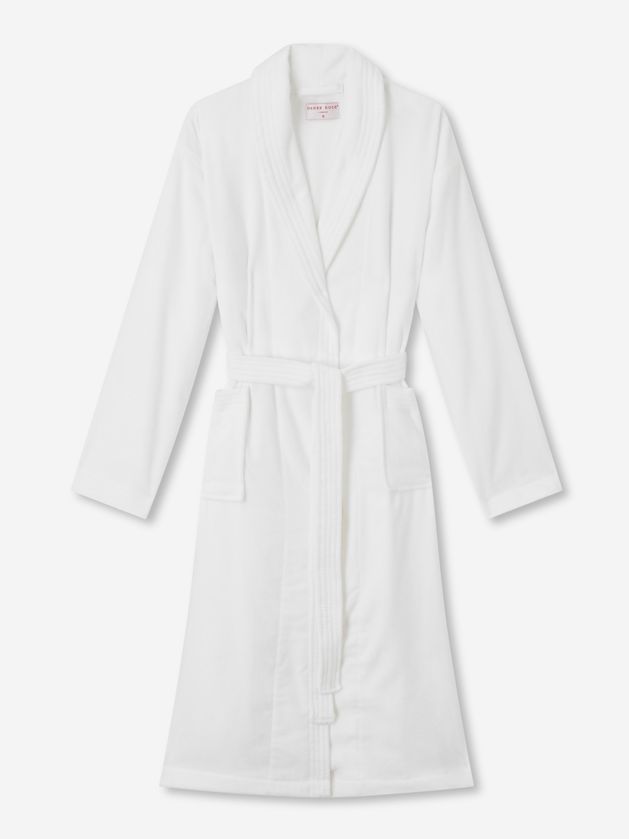 Women's Towelling Gown Triton 10 Cotton Velour White