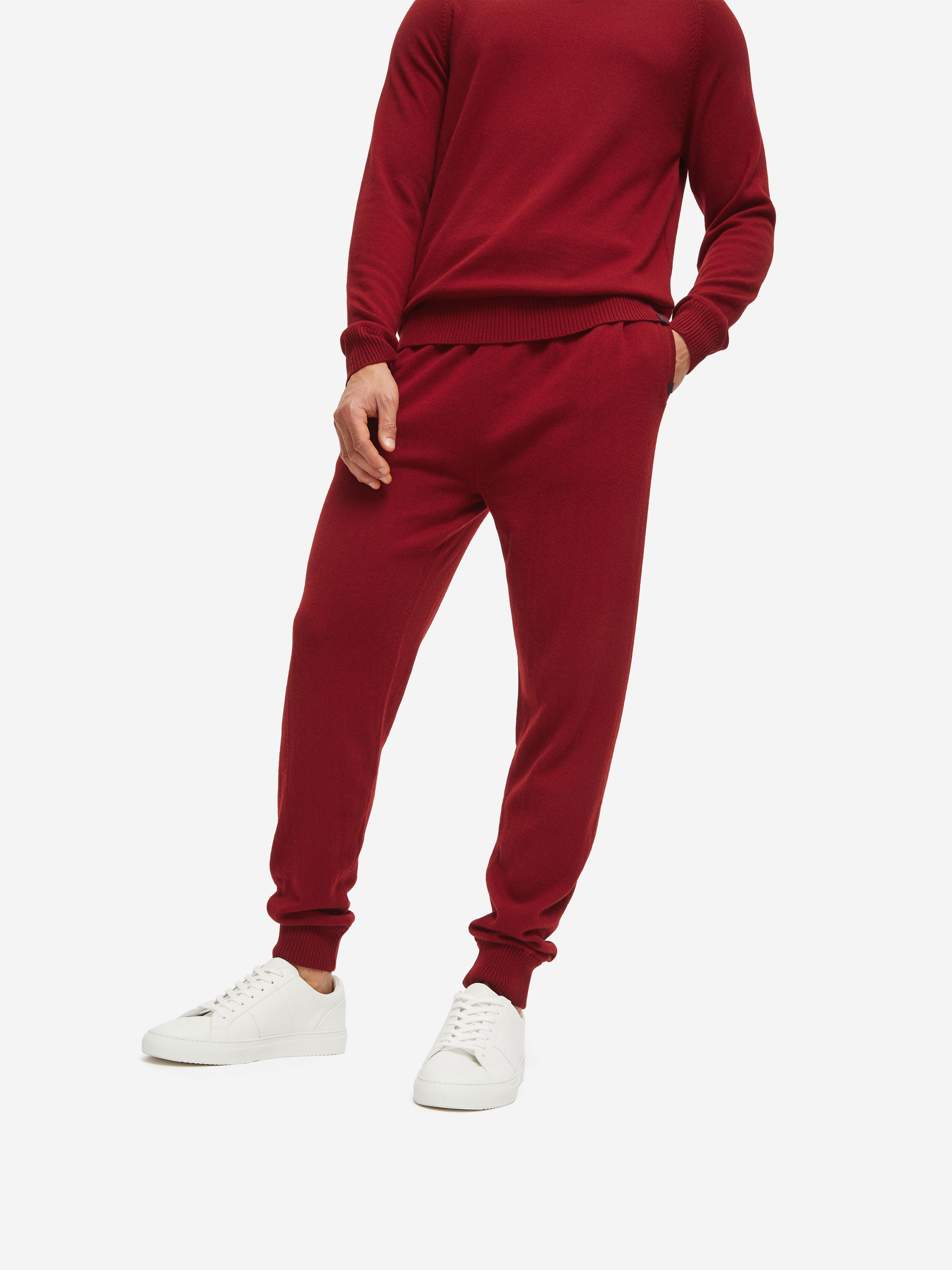 Men's Track Pants Finley Cashmere Red
