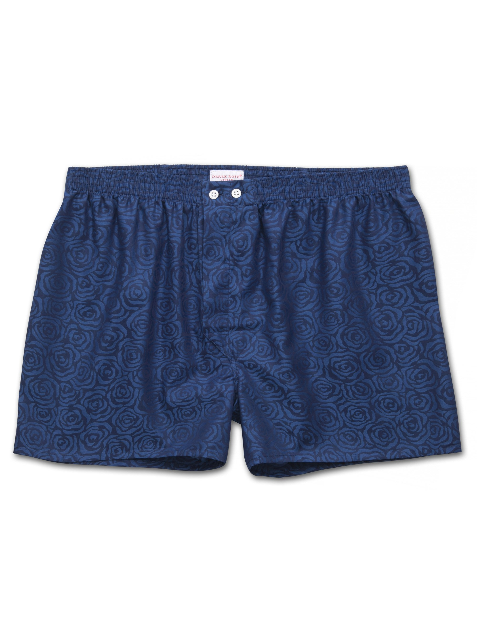 Men's Classic Fit Boxer Shorts Paris 17 Cotton Jacquard Navy