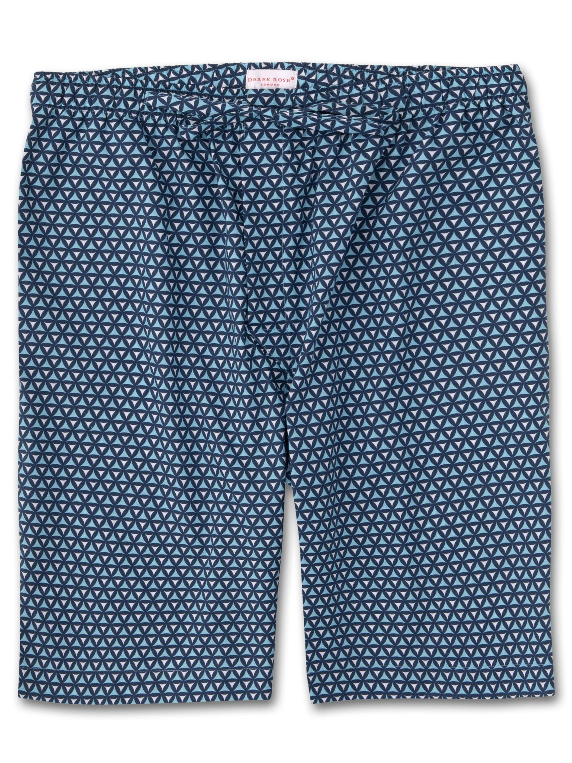 Men's Lounge Shorts Ledbury 26 Cotton Batiste Navy