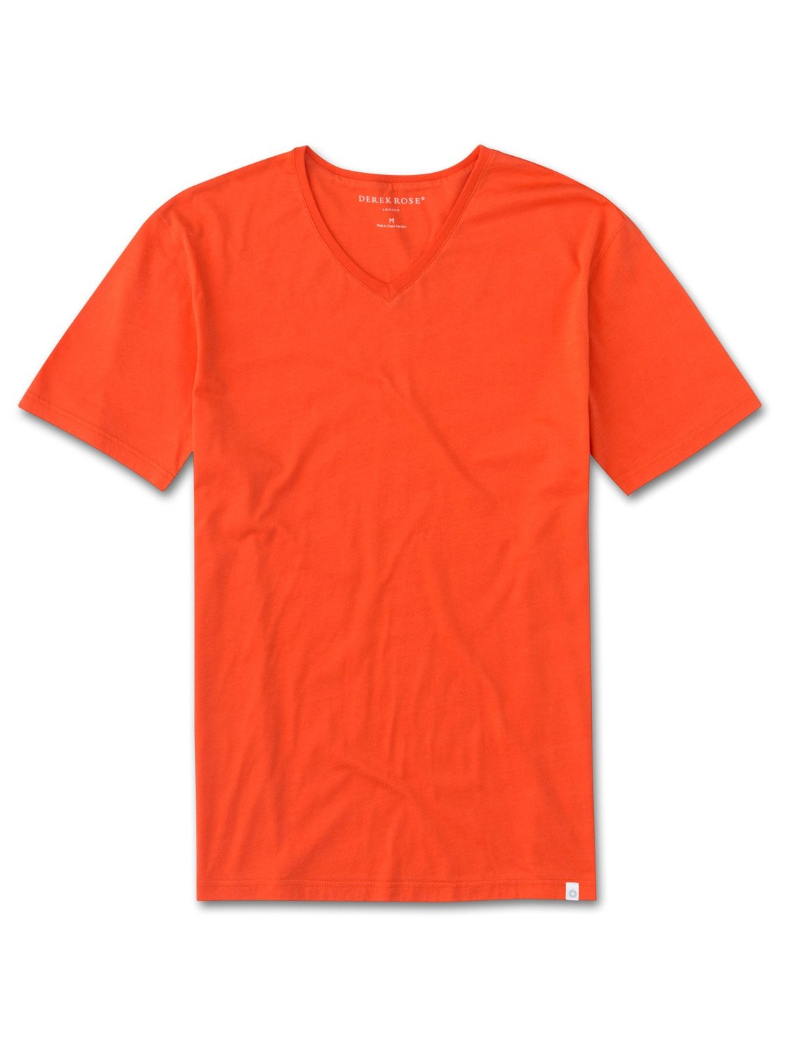 Men's Short Sleeve V-Neck T-Shirt Riley 2 Pima Cotton Orange