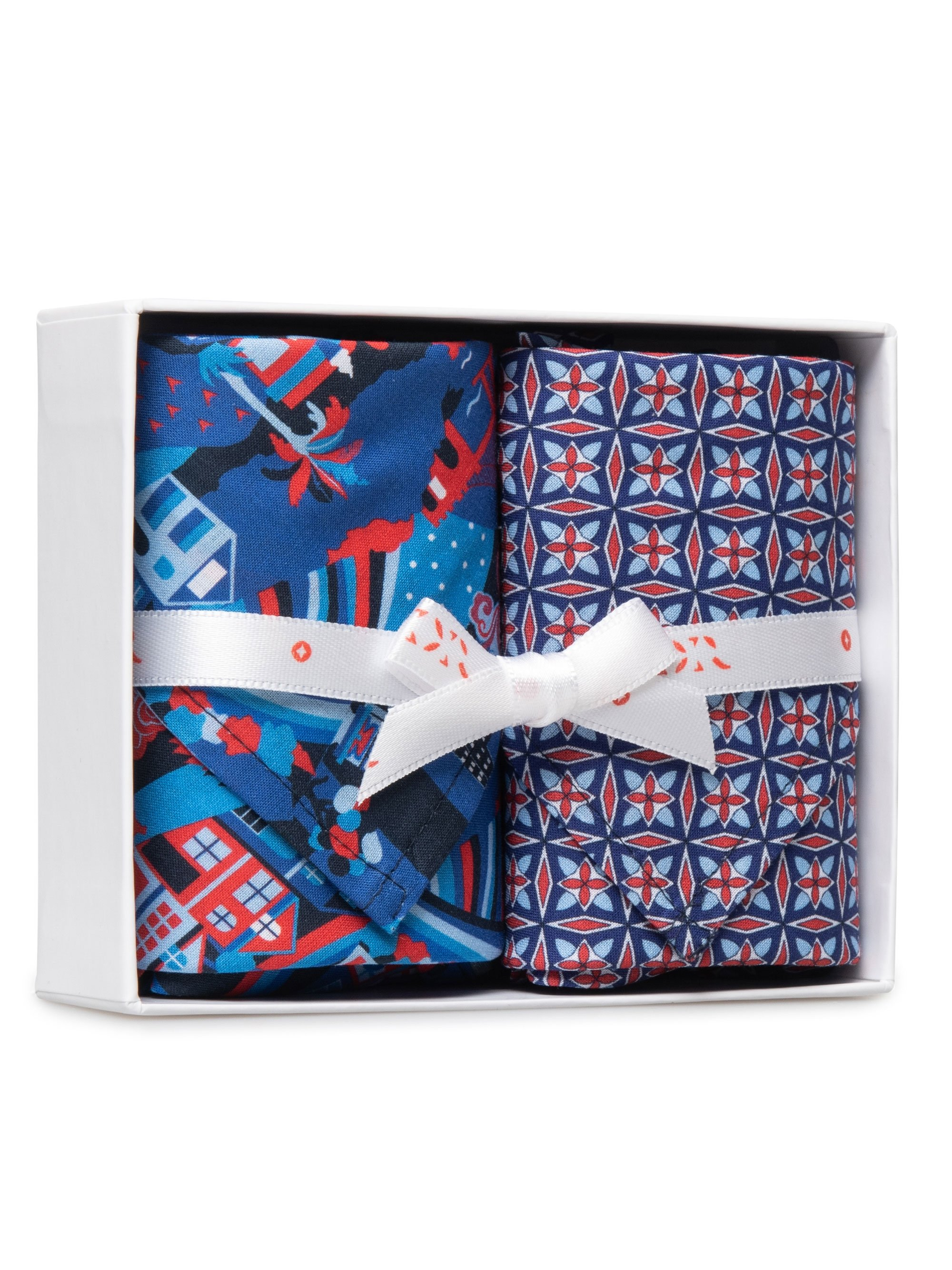 Handkerchief Set Pack 151 Ledbury 19 Red & Ledbury 21 Red
