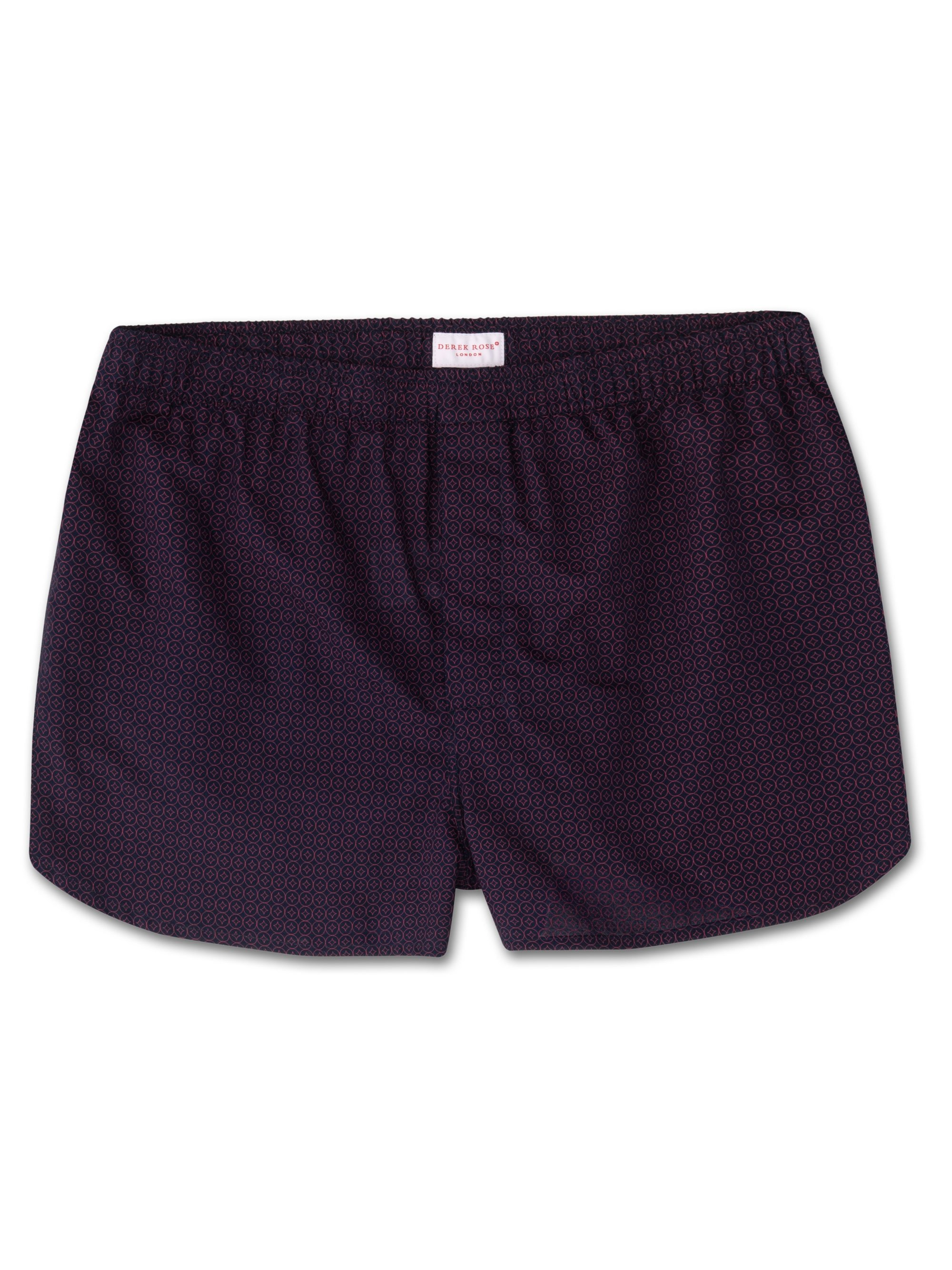 Men's Modern Fit Boxer Shorts Nelson 60 Cotton Batiste Navy