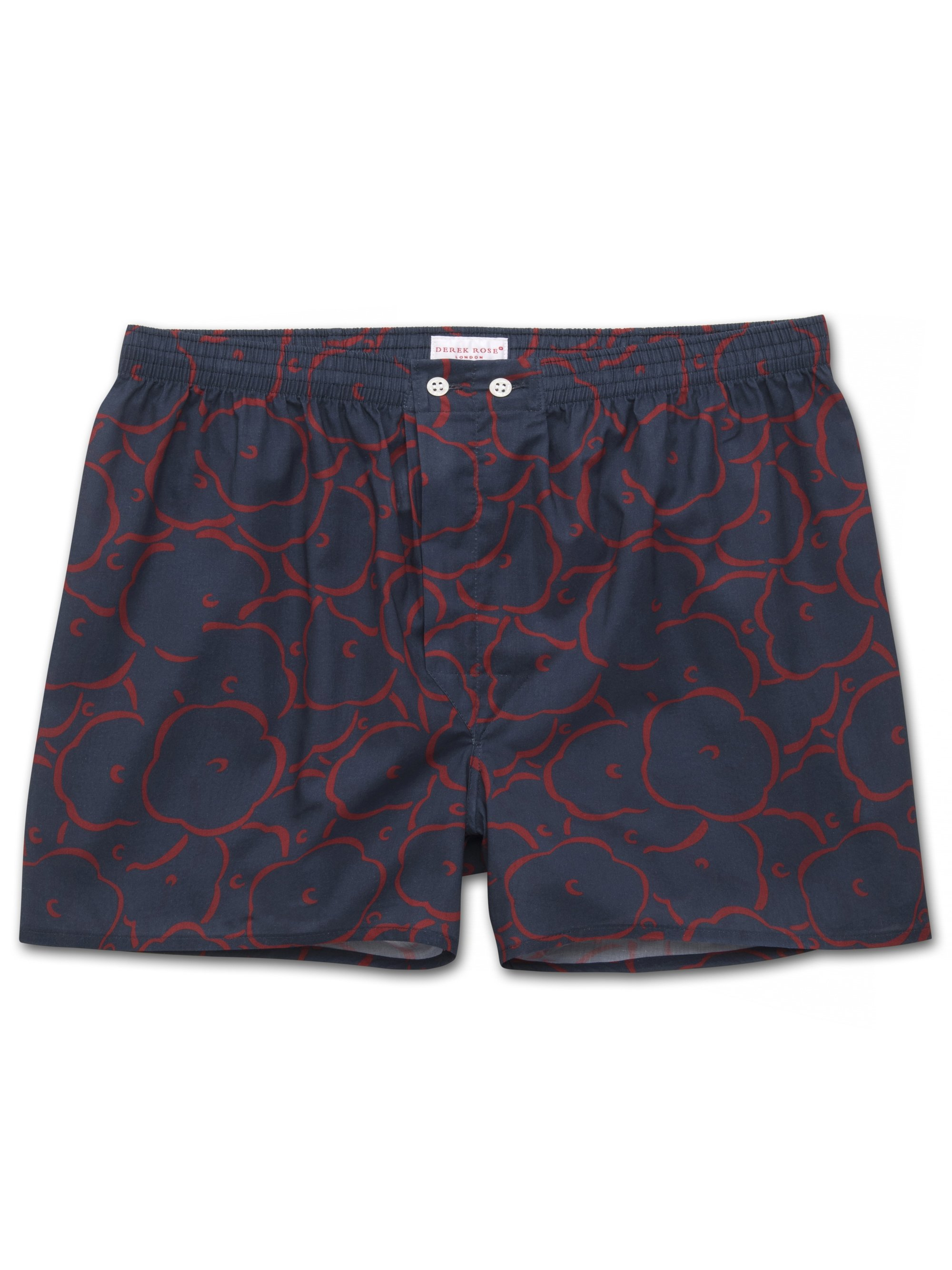 Men's Classic Fit Boxer Shorts Ledbury 30 Cotton Batiste Navy