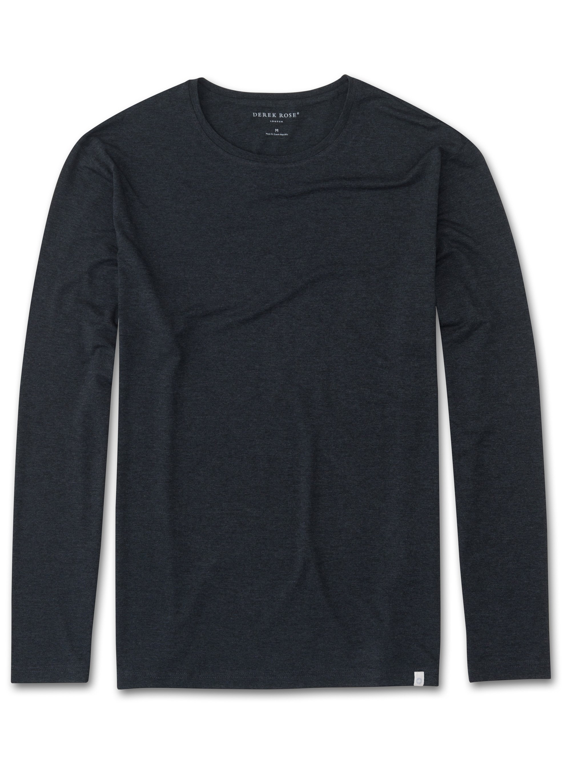 Men's Long Sleeve T-Shirt Marlowe Micro Modal Stretch Anthracite