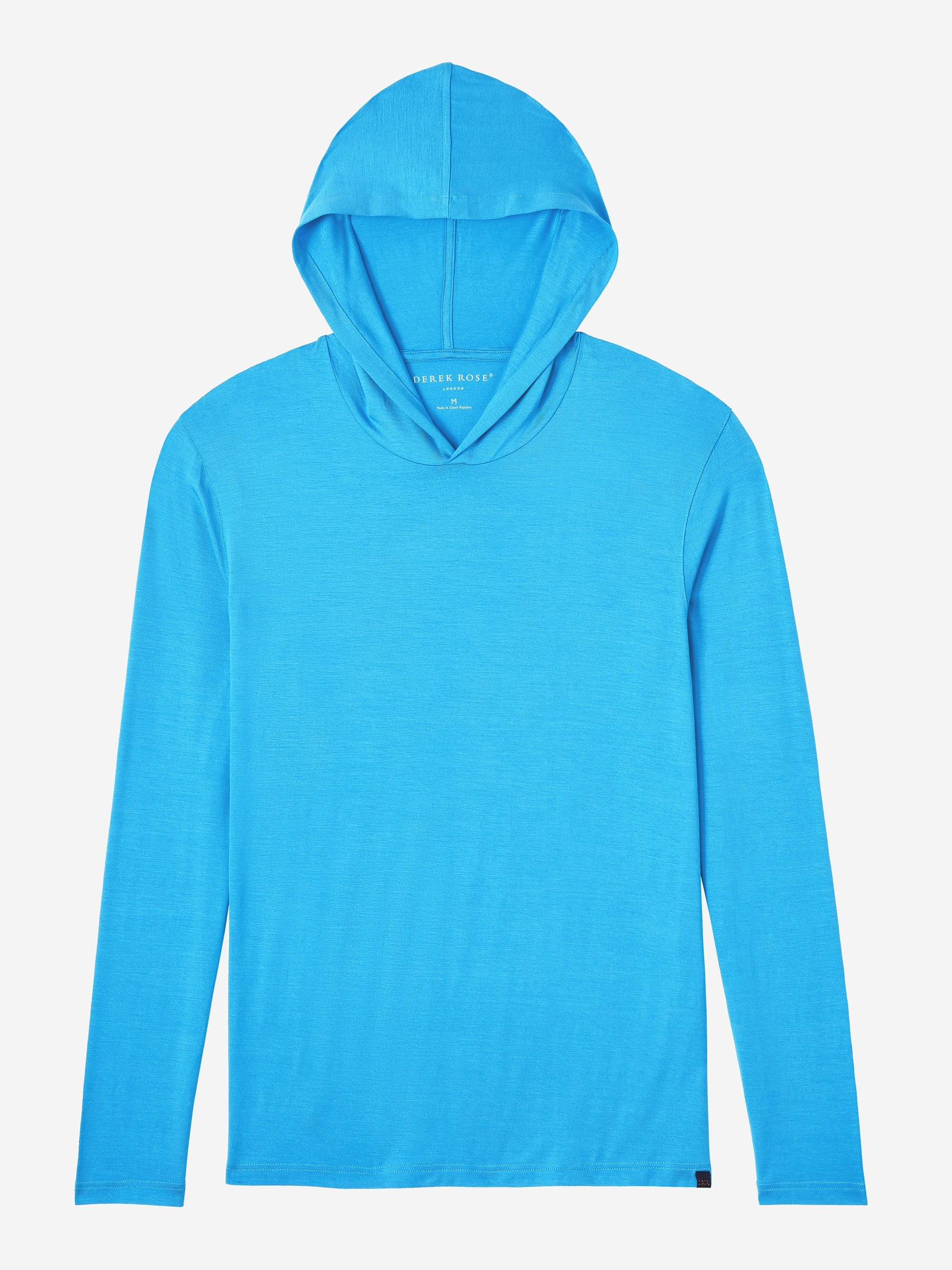 Men's Jersey Pullover Hoodie Basel 6 Micro Modal Stretch Blue