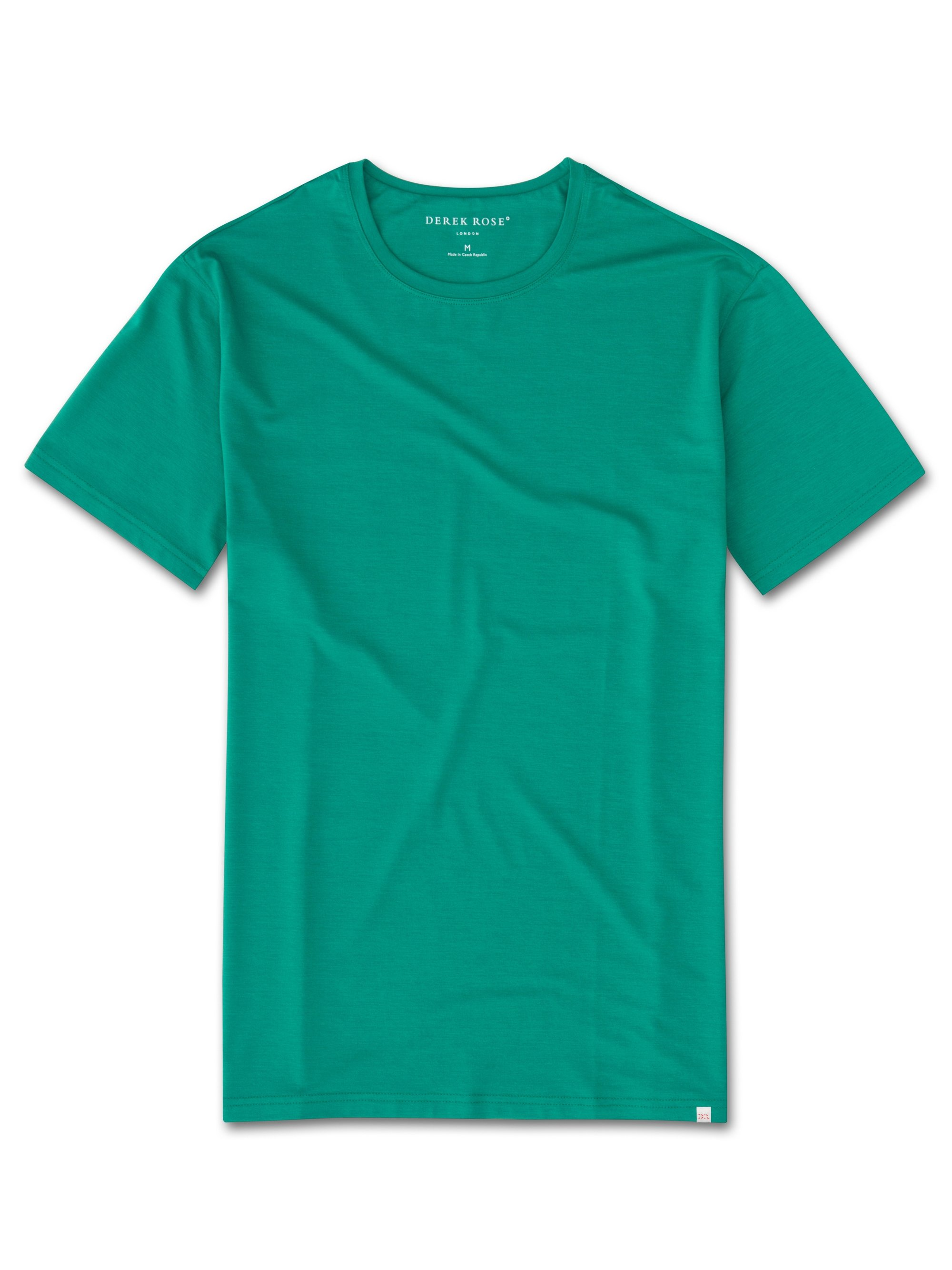 Men's Short Sleeve T-Shirt Basel 6 Micro Modal Stretch Green