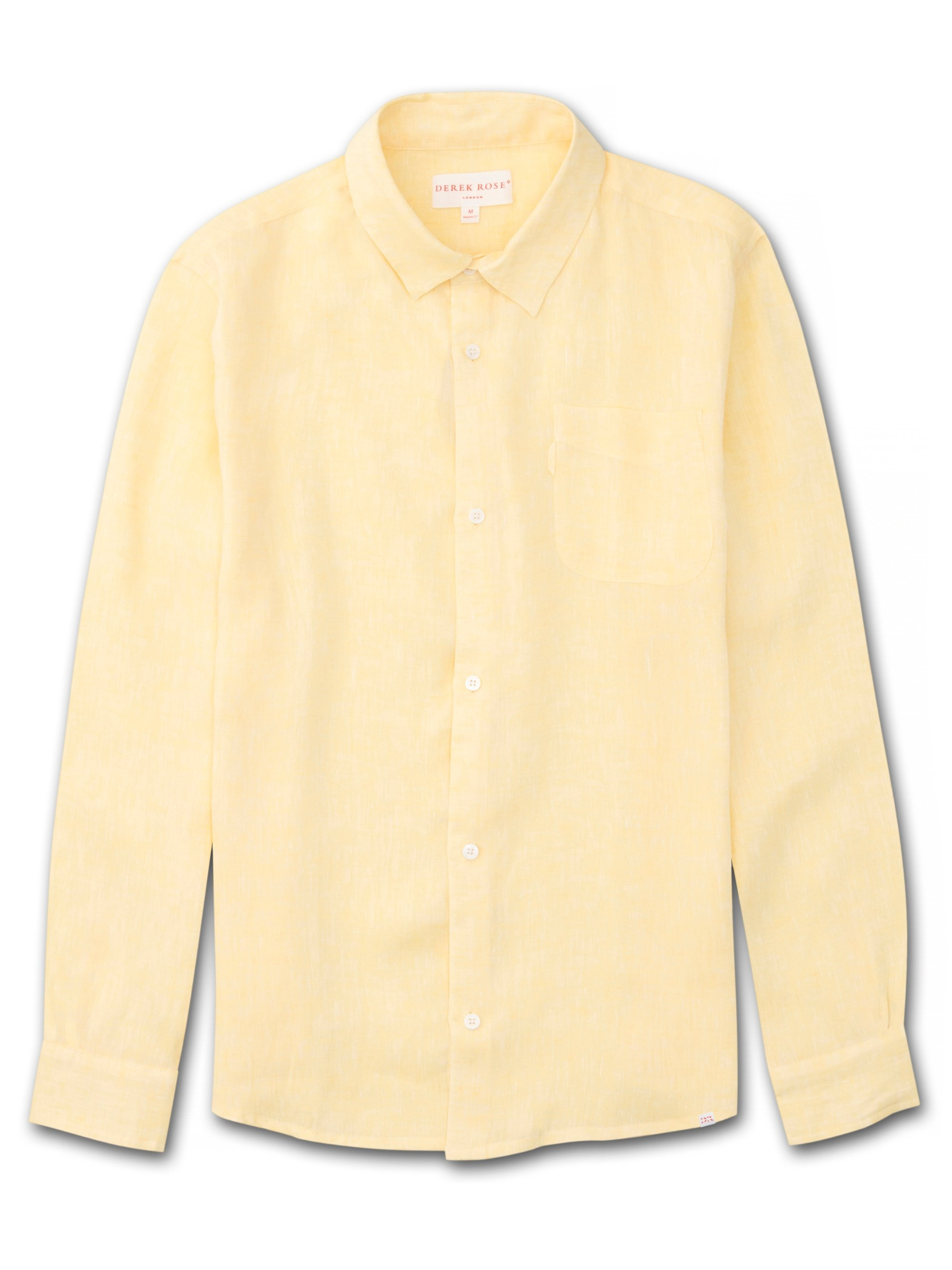 Men's Linen Shirt Monaco Pure Linen Yellow