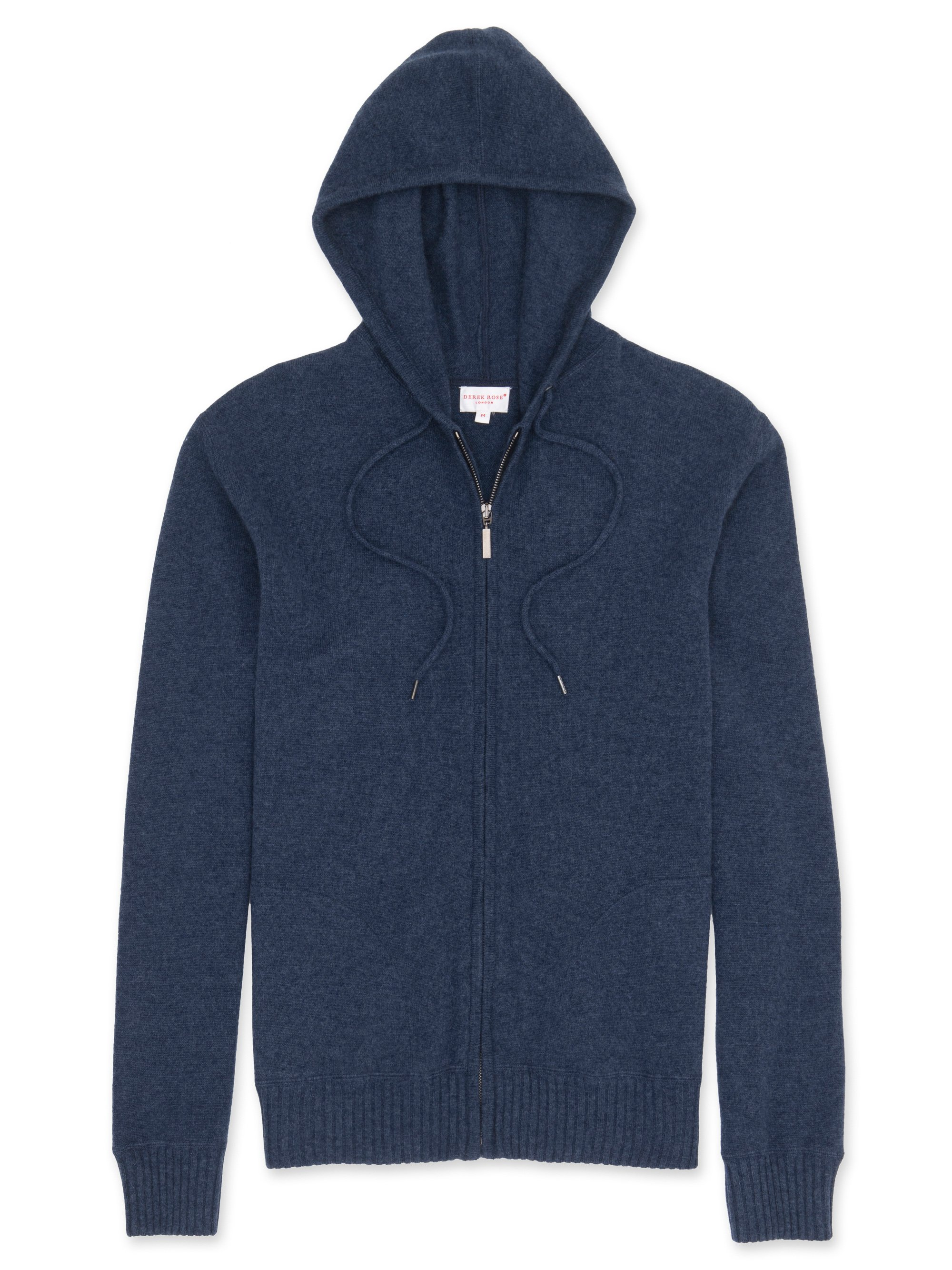 Men's Cashmere Hoodie Finley Pure Cashmere Navy