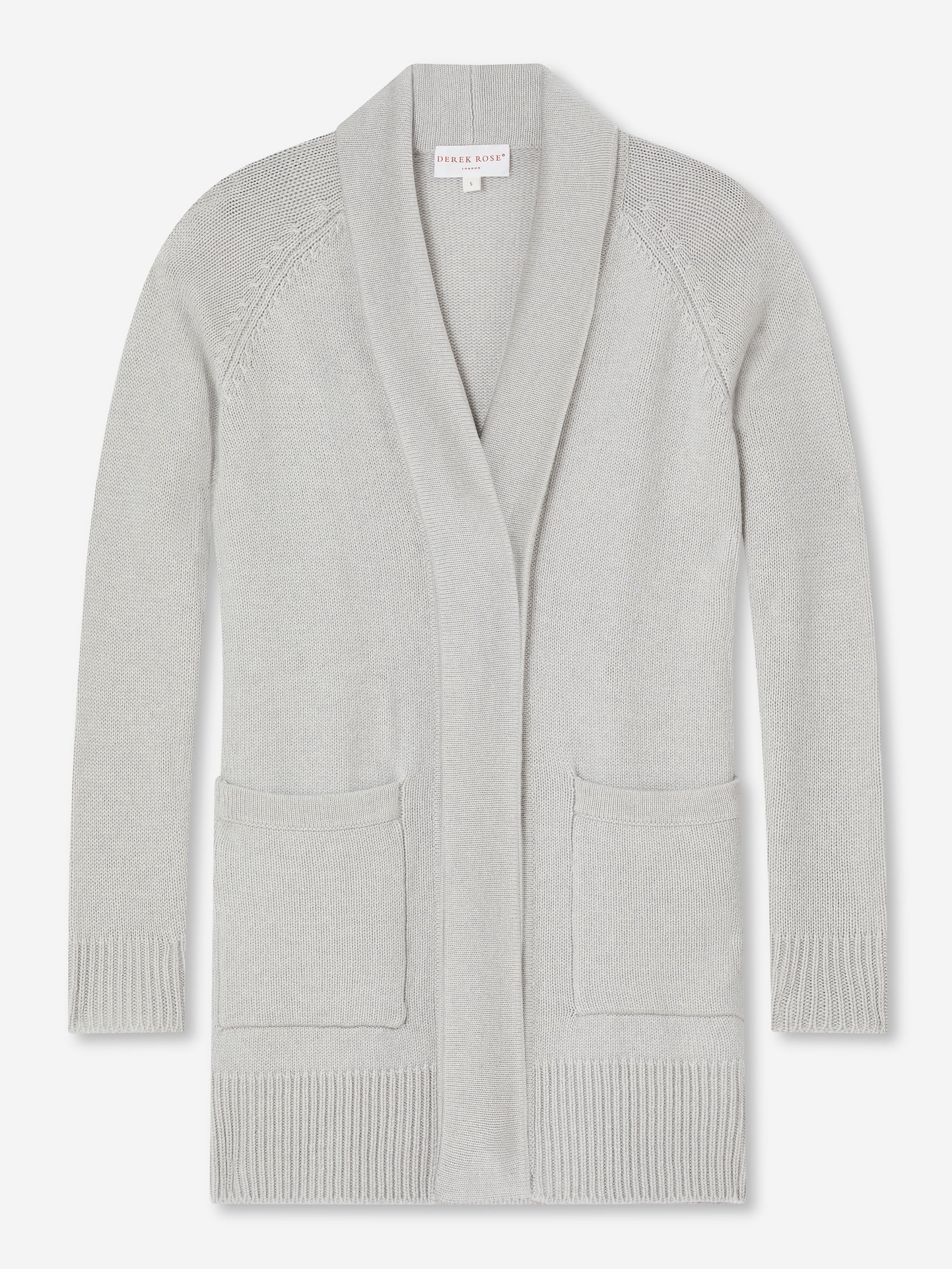 Women's Cashmere Cardigan Nina Pure Cashmere Silver