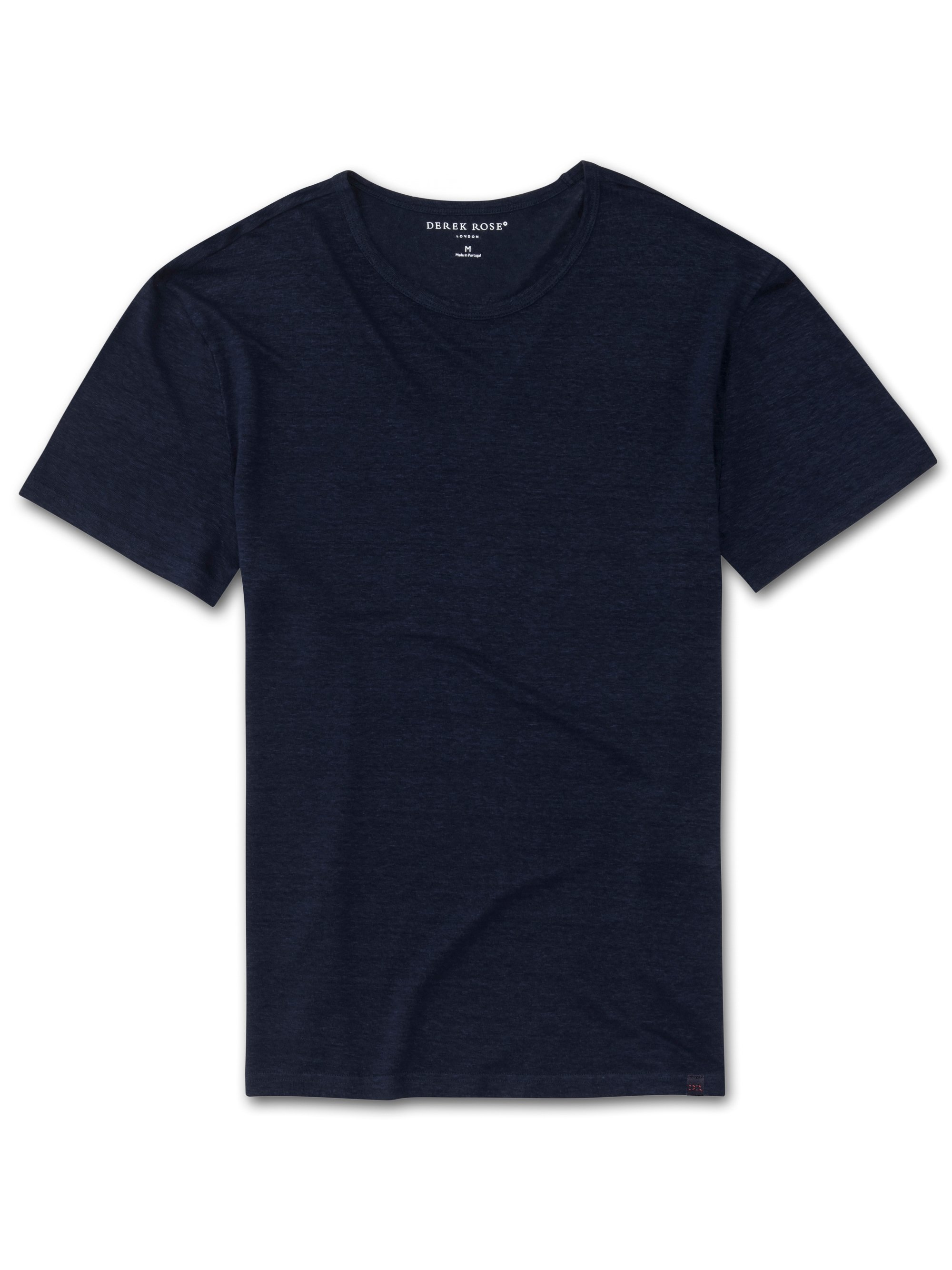 Men's Linen Short Sleeve T-Shirt Jordan Pure Linen Navy