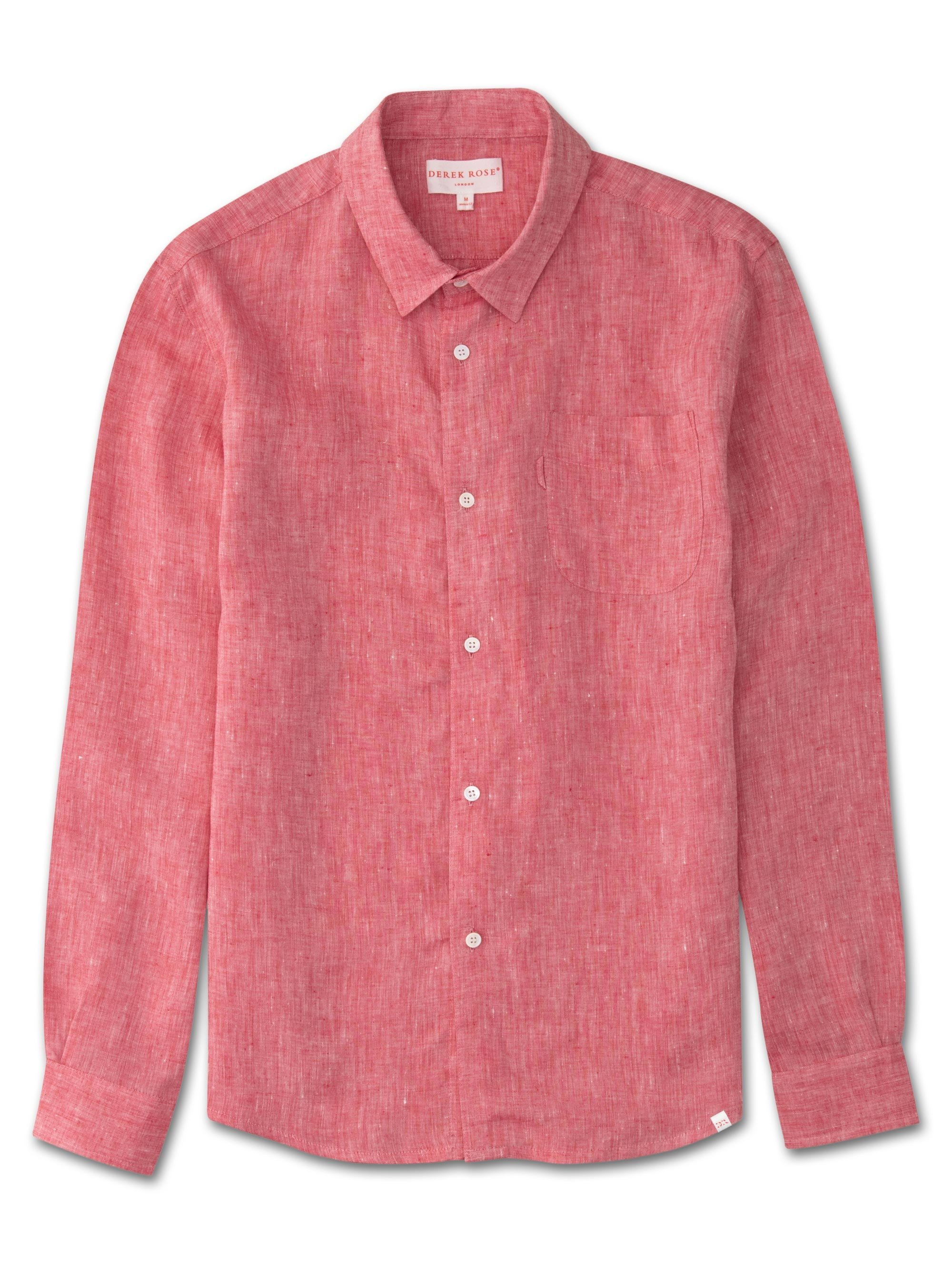 Men's Linen Shirt Monaco Pure Linen Red