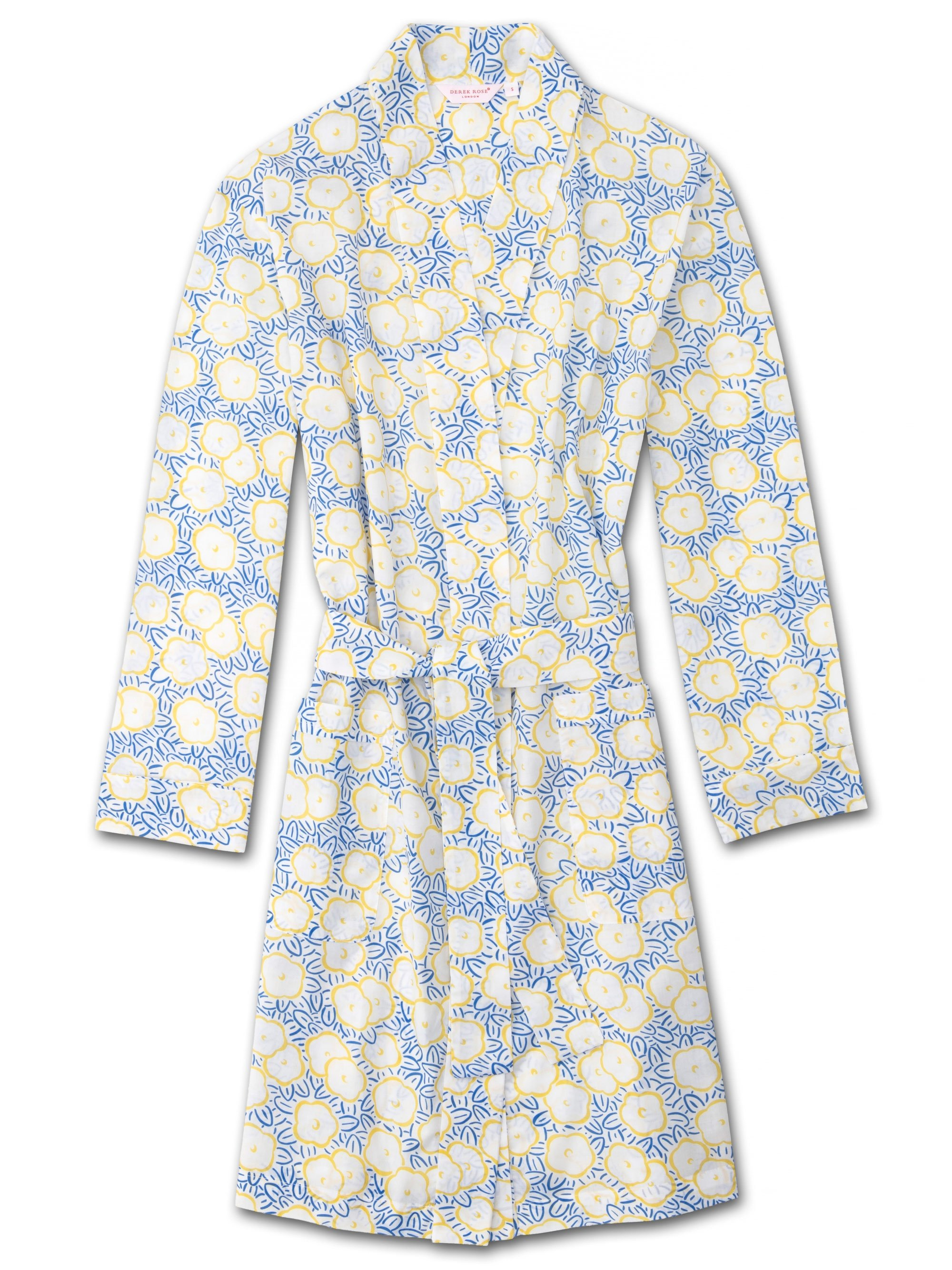 Women's Dressing Gown Ledbury 33 Cotton Batiste White
