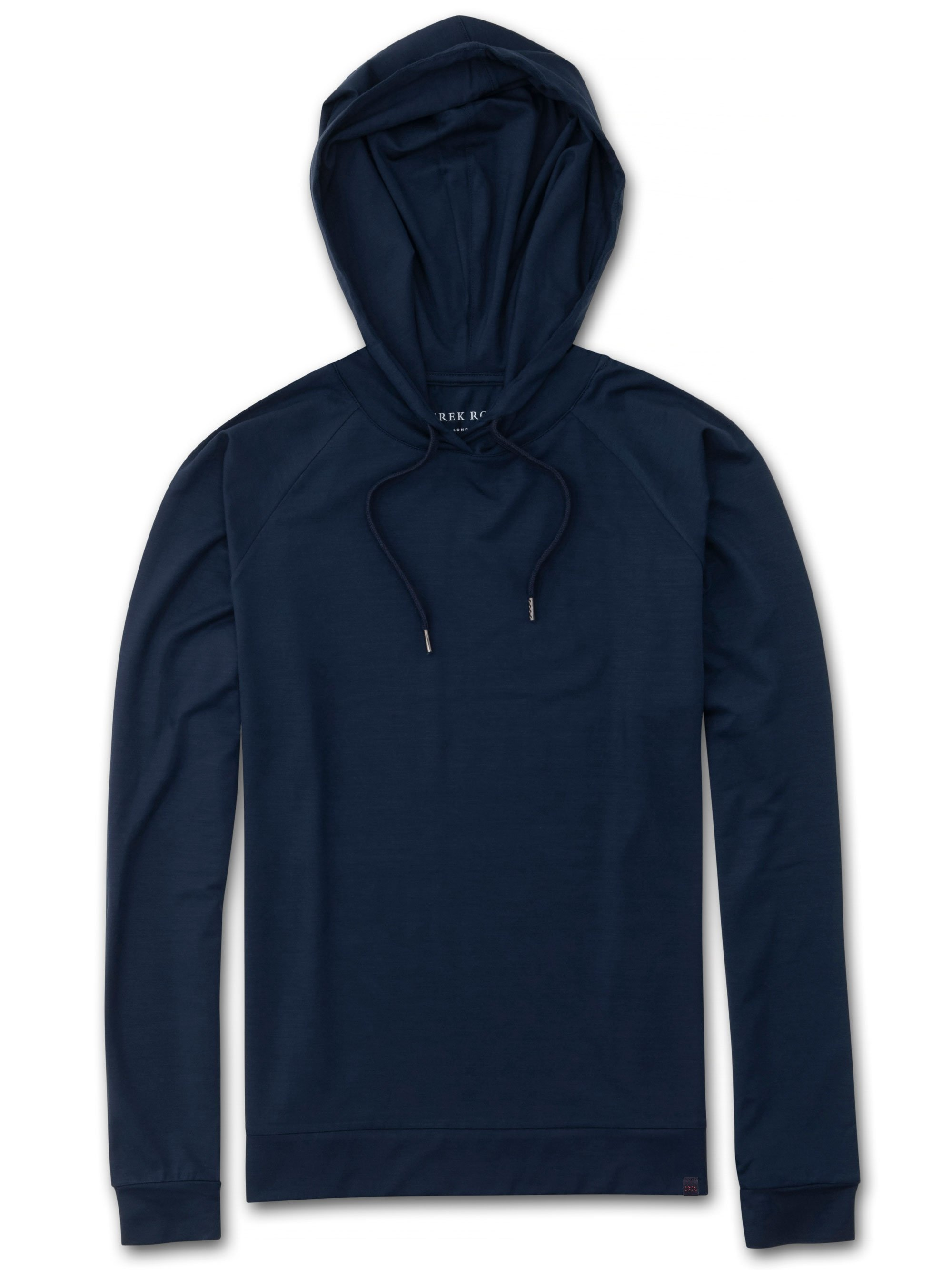 Women's Jersey Pullover Hoodie Basel Micro Modal Stretch Navy
