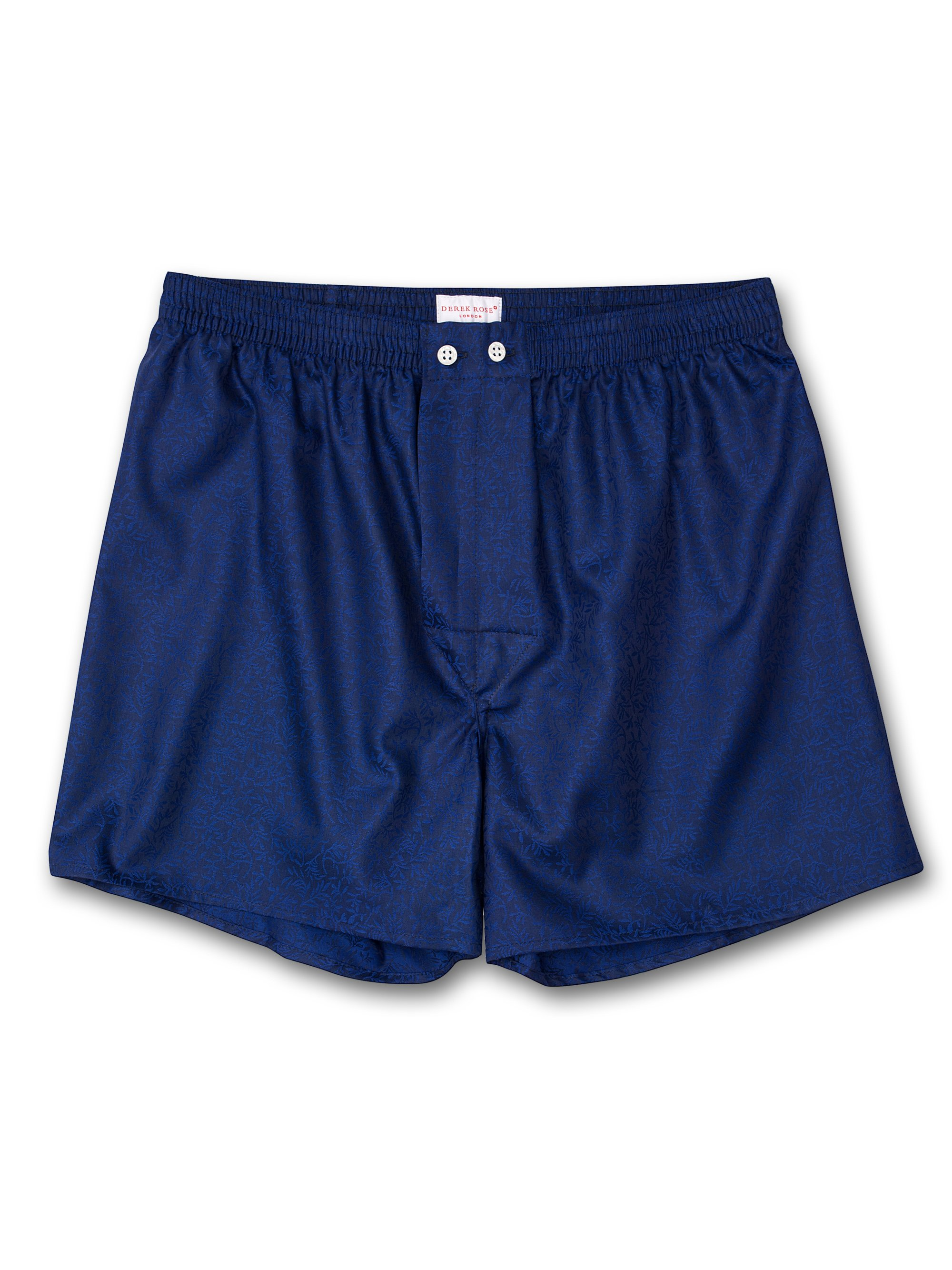 Men's Classic Fit Boxer Shorts Paris 7 Cotton Jacquard Cobalt