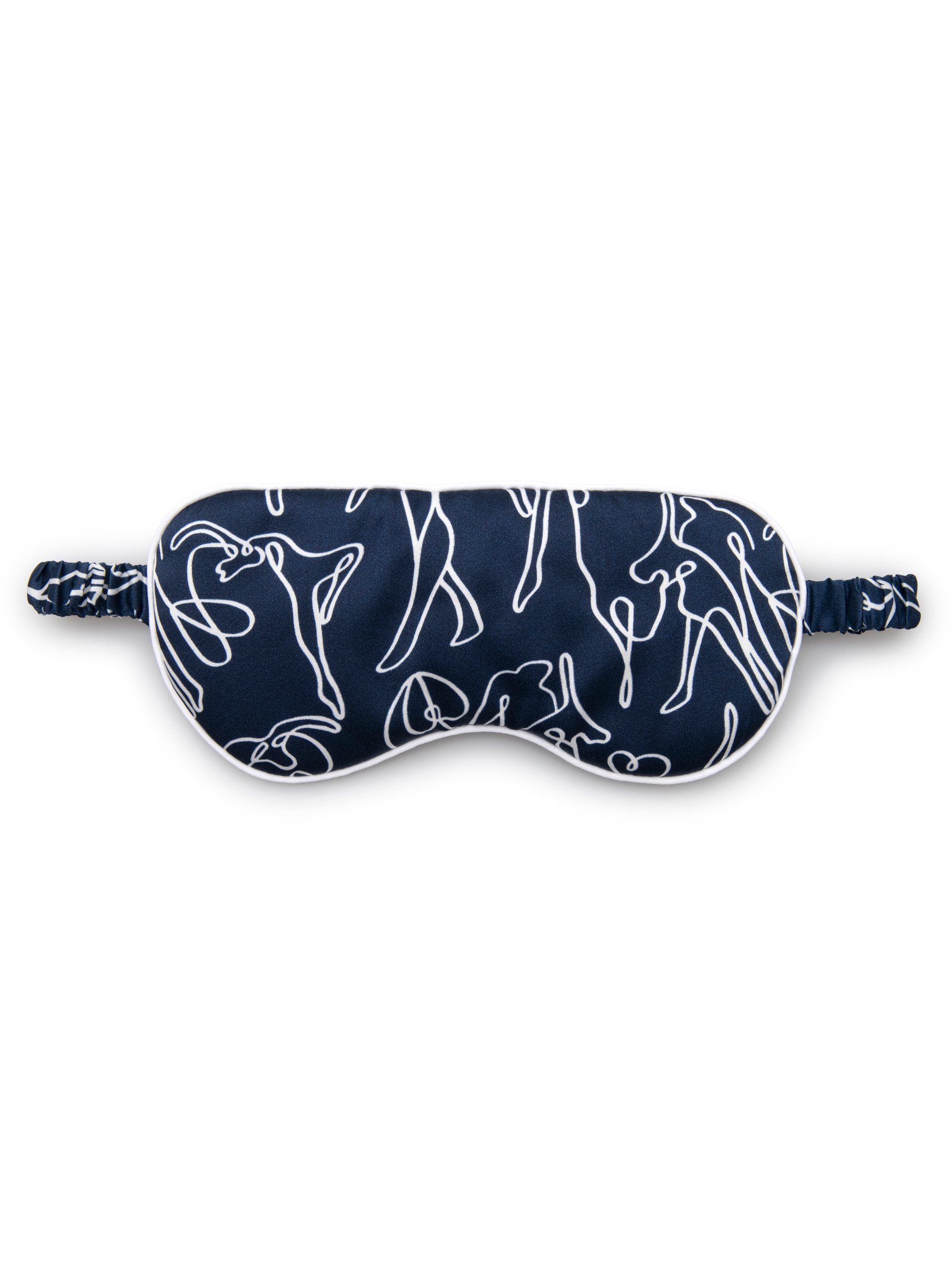 Reversible Eye Mask Brindisi 59 Pure Silk Satin Navy